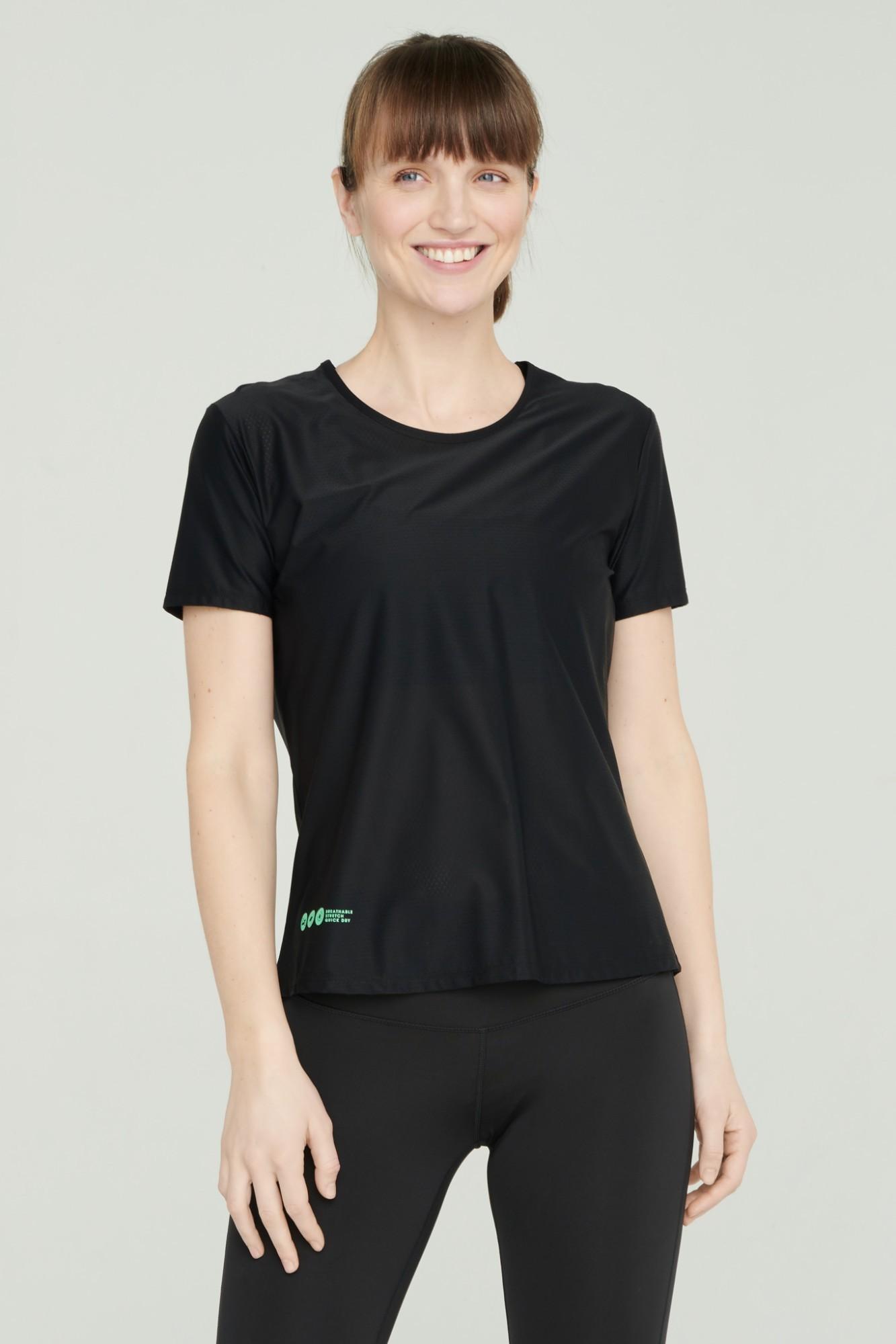 AUDIMAS Lengvi funkcionalūs marškinėliai 2111-051 Black M
