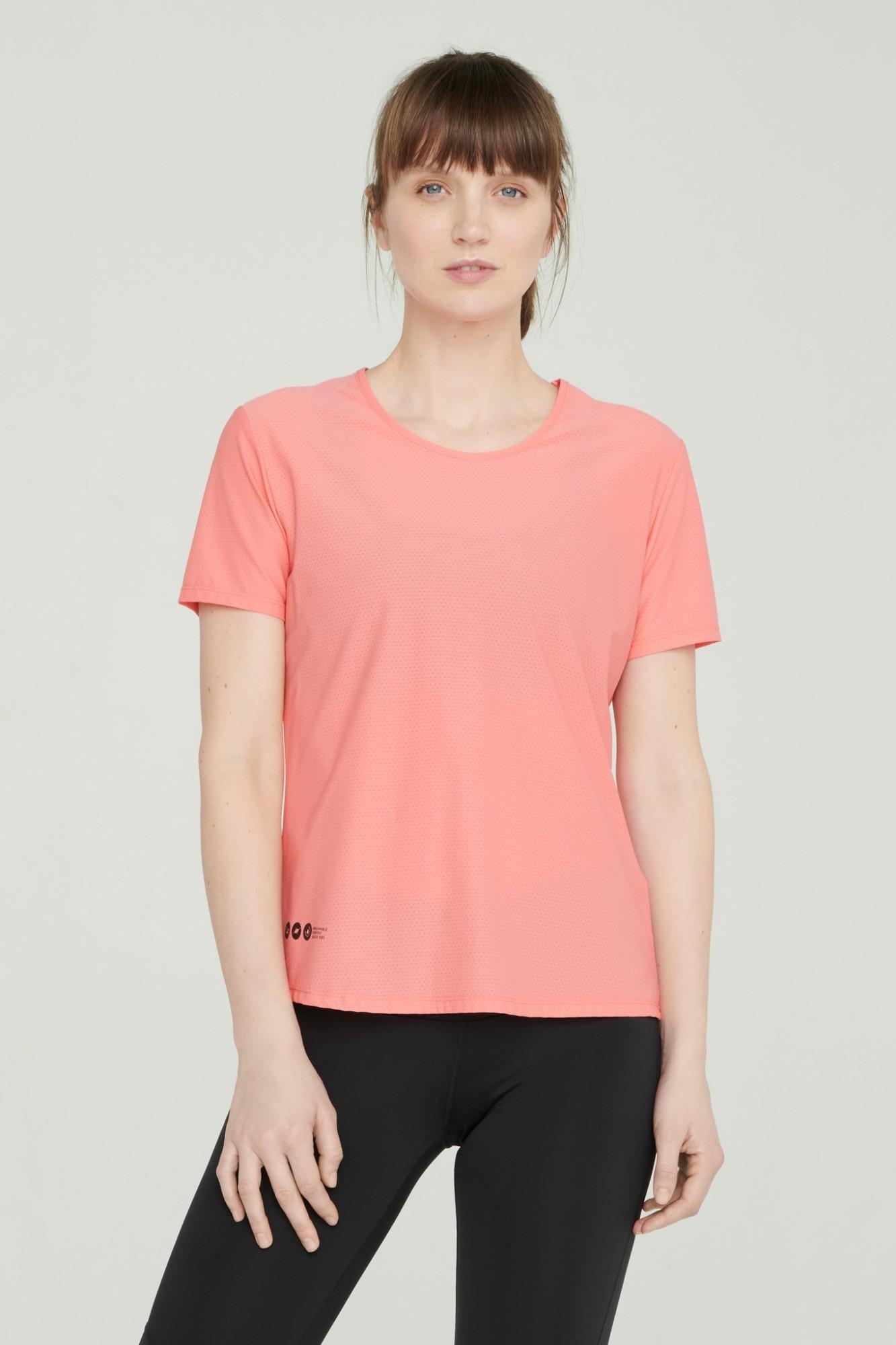 AUDIMAS Lengvi funkcionalūs marškinėliai 2111-051 Sunkist Coral XL