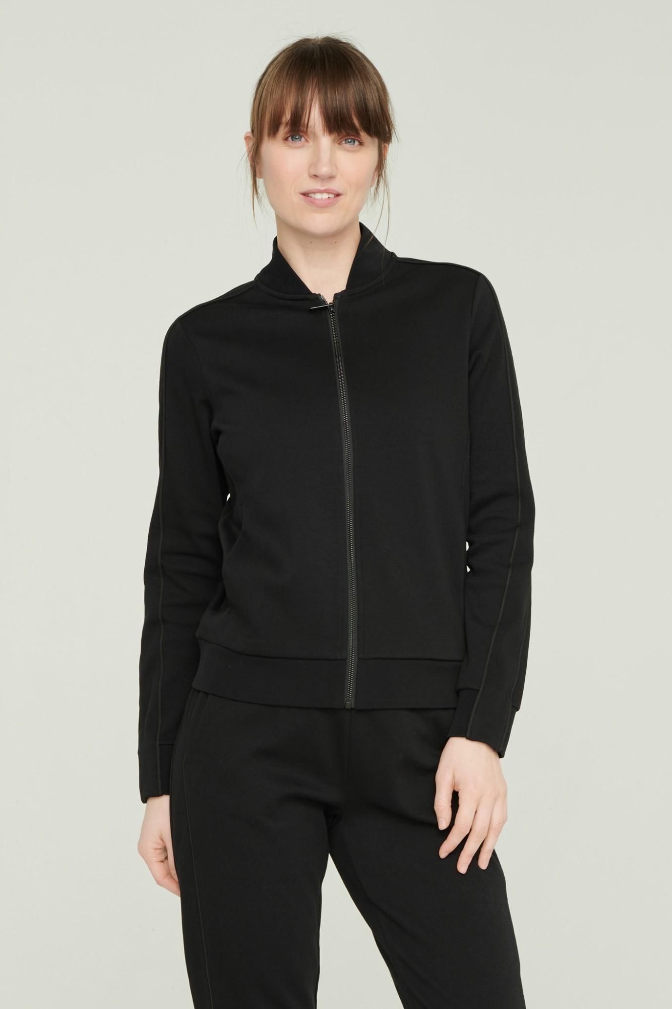 AUDIMAS Atsegamas medvilninis džemperis 2111-054 Black M