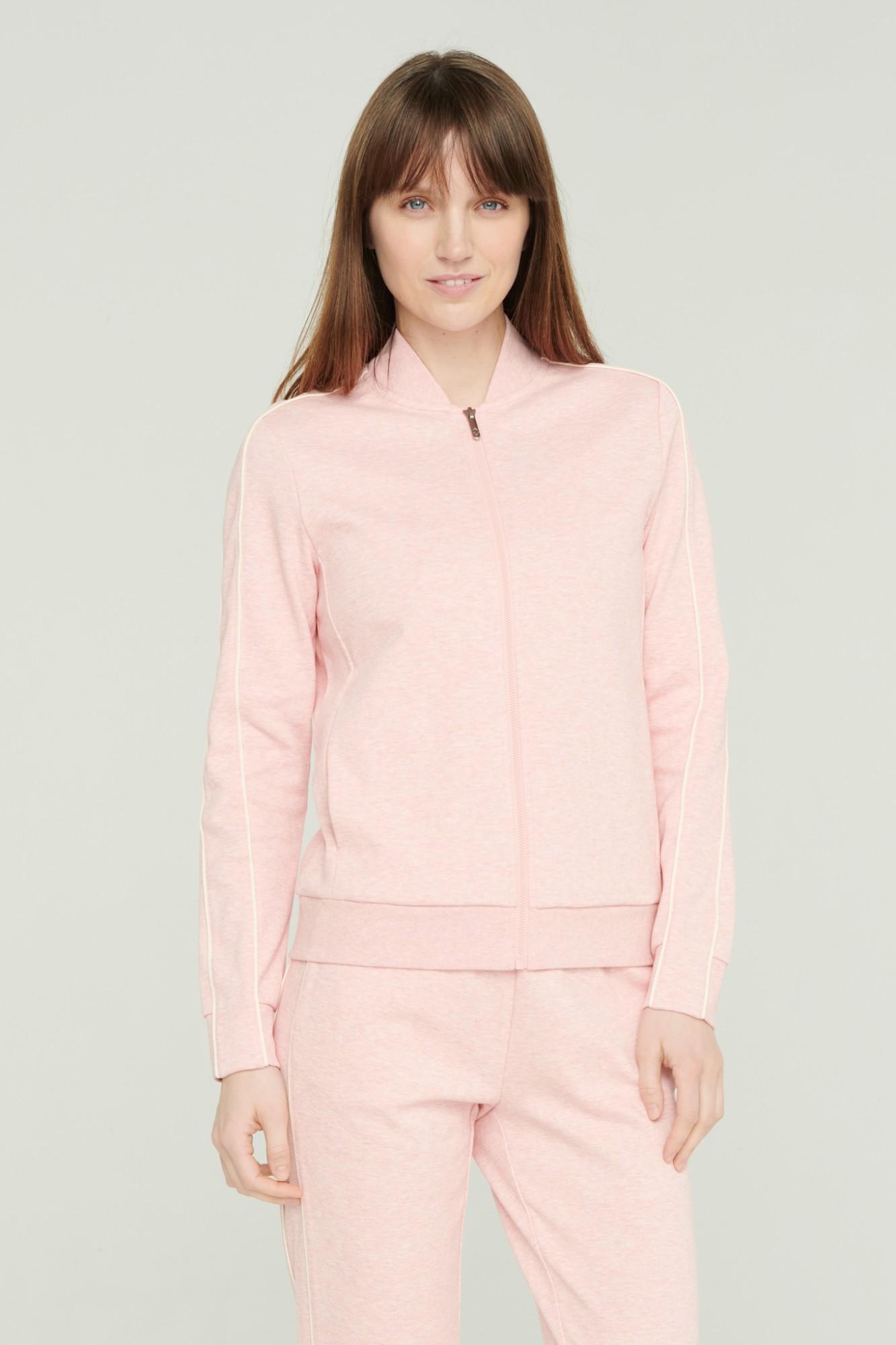 AUDIMAS Atsegamas medvilninis džemperis 2111-054 Chintz Rose Melange S