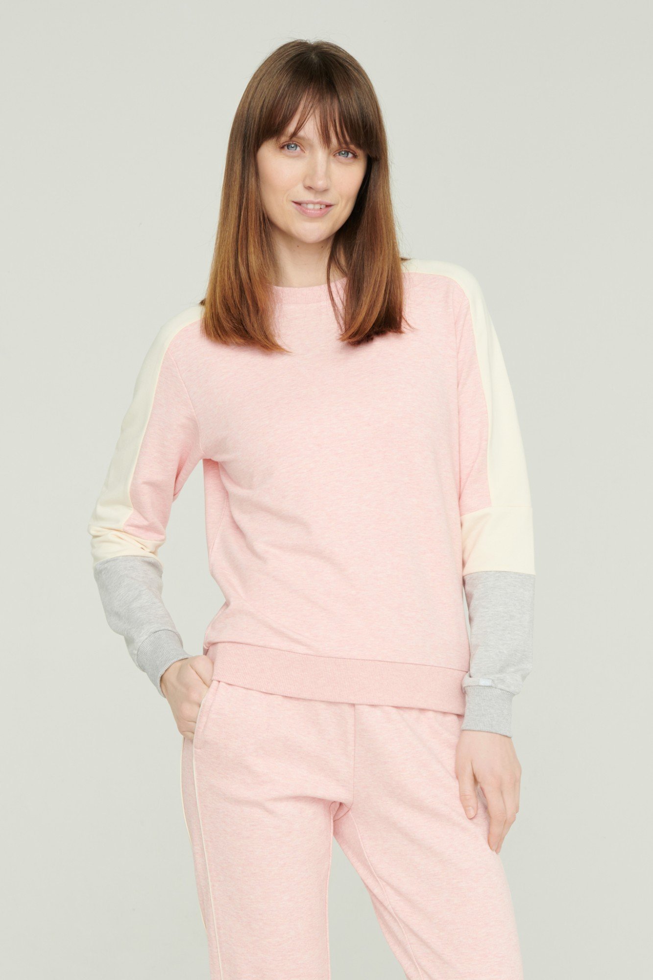 AUDIMAS Švelnus modalo džemperis 2111-056 Chintz Rose XS