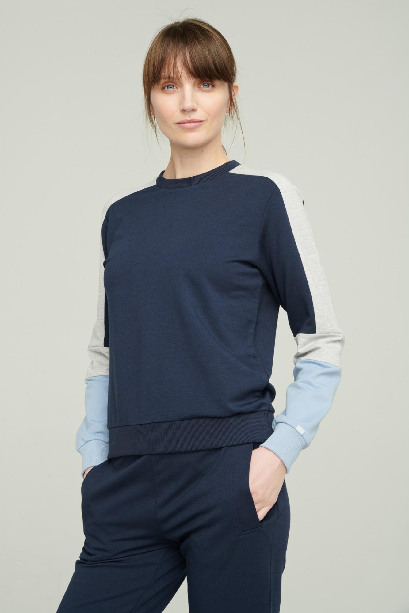 AUDIMAS Švelnus modalo džemperis 2111-056 Navy Blazer S