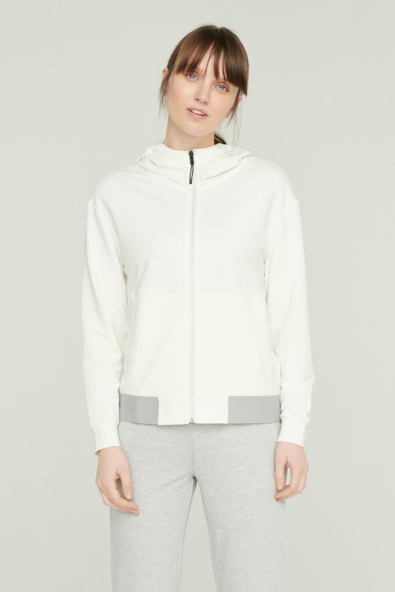 AUDIMAS Atsegamas džemperis su gobtuvu 2111-057 Blanc De Blanc L