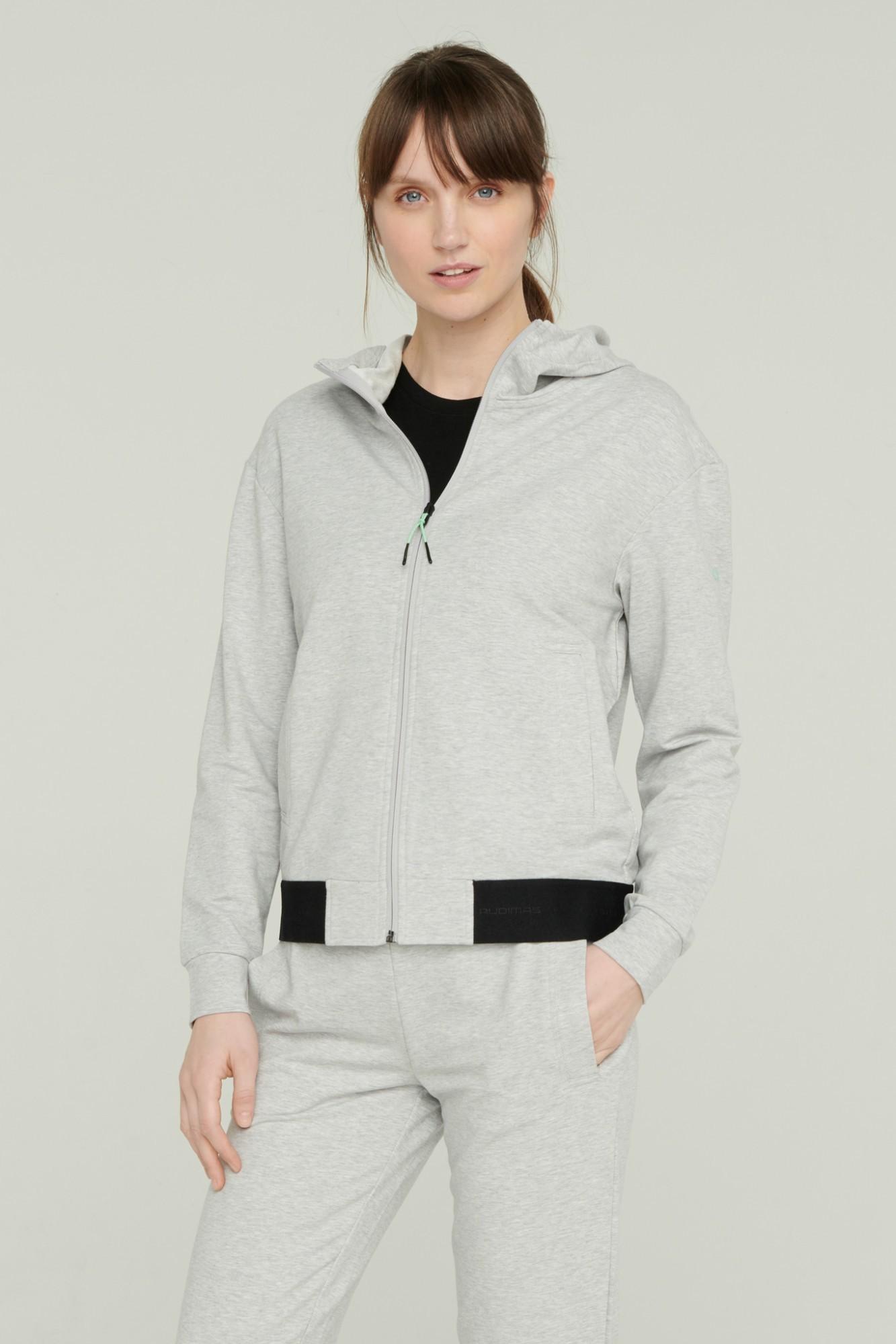 AUDIMAS Atsegamas džemperis su gobtuvu 2111-057 High Rise Melange XL