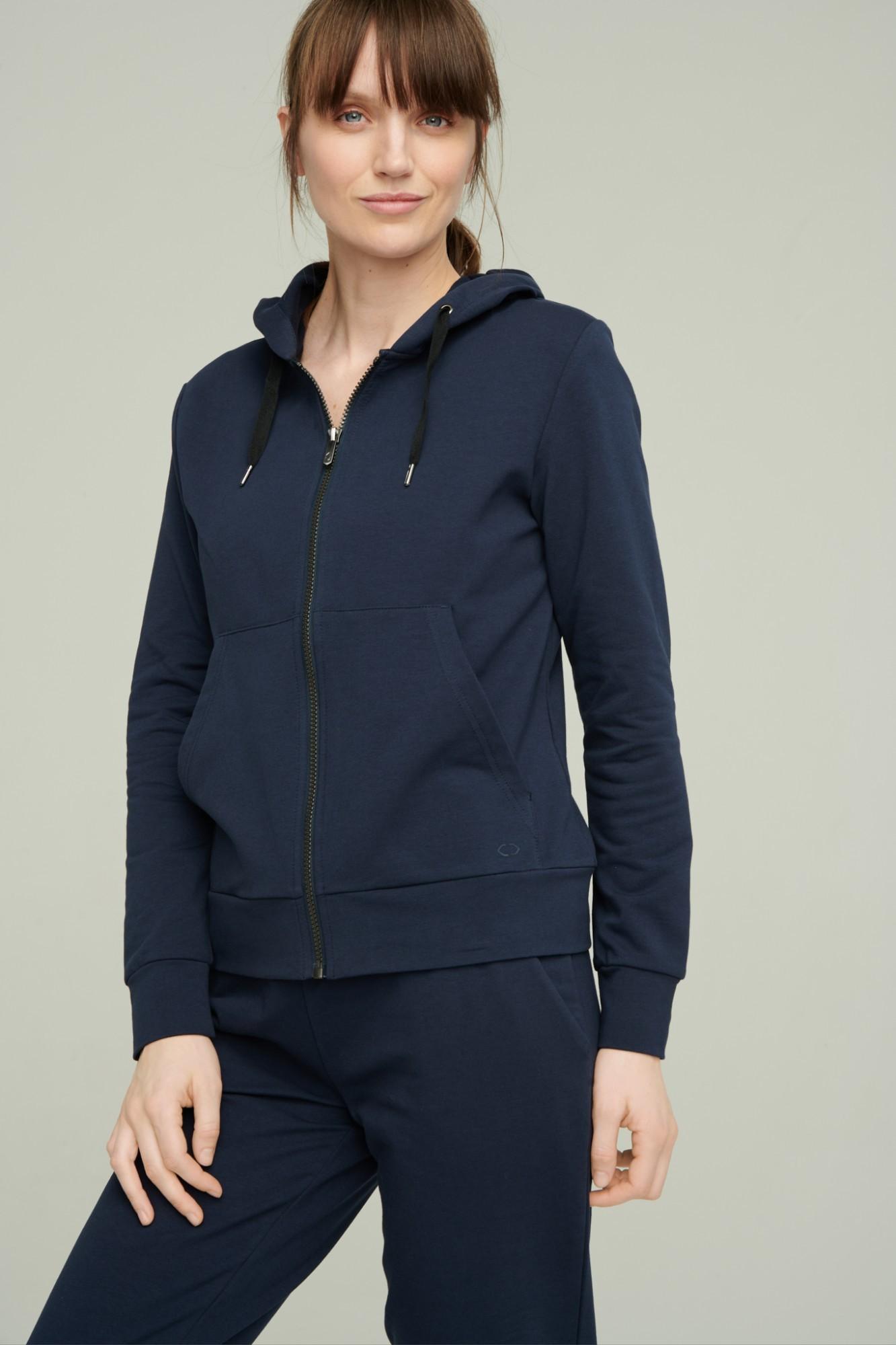 AUDIMAS Atsegamas medv. džemp. su gobtuvu 2111-062 Navy Blazer S