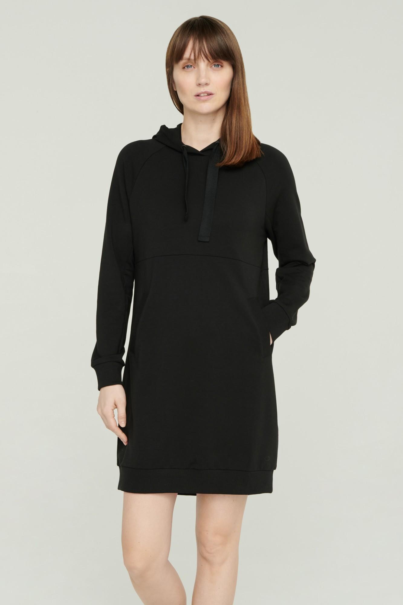 AUDIMAS Švelni modalo suknelė 2111-070 Black L