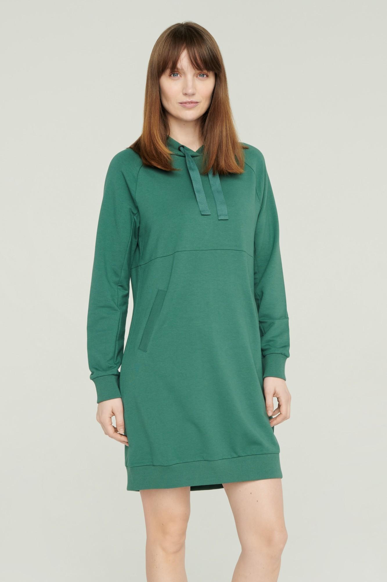 AUDIMAS Švelni modalo suknelė 2111-070 Mallard Green XS