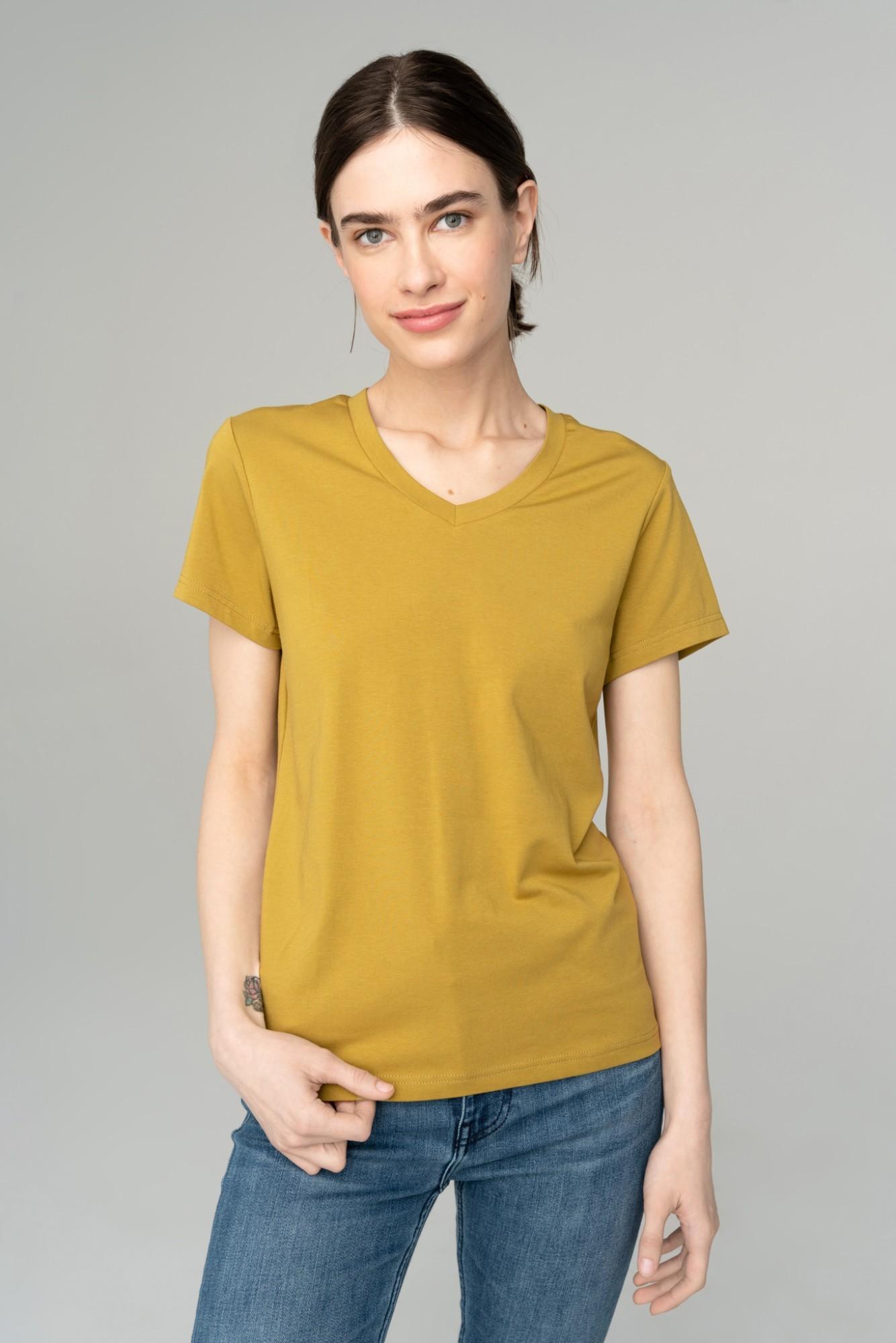 AUDIMAS Švelnūs modalo marškinėliai 2111-075 Ecru Olive XS