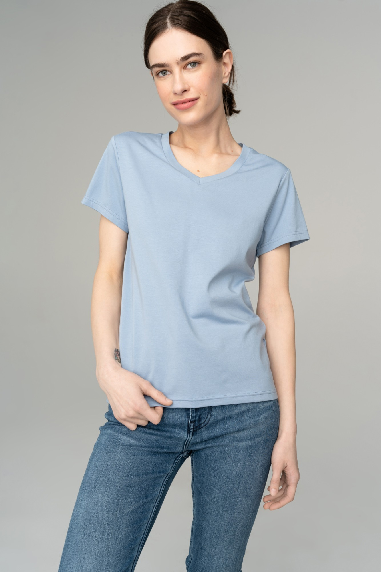 AUDIMAS Švelnūs modalo marškinėliai 2111-075 Forever Blue L