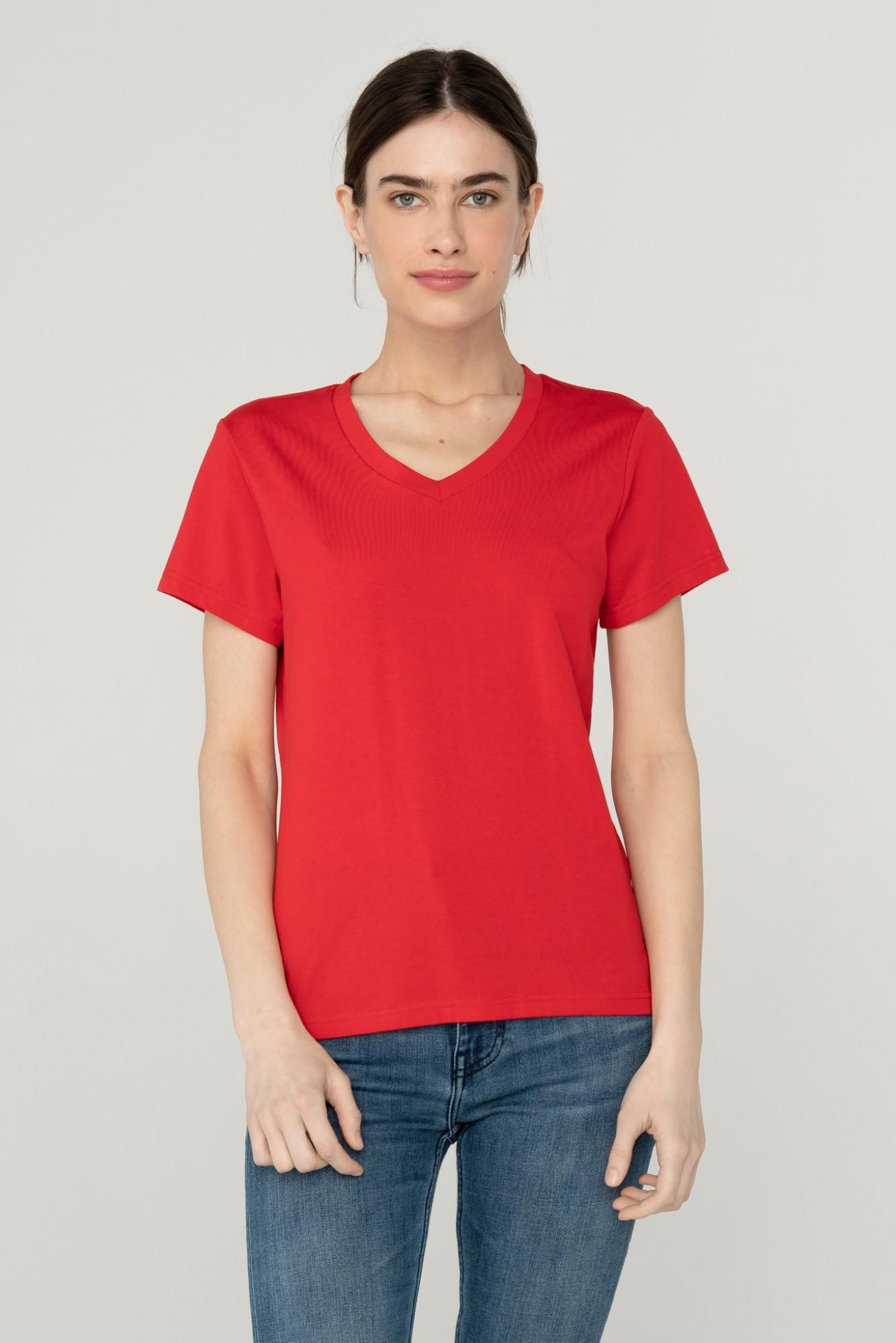 AUDIMAS Švelnūs modalo marškinėliai 2111-075 High Risk Red L