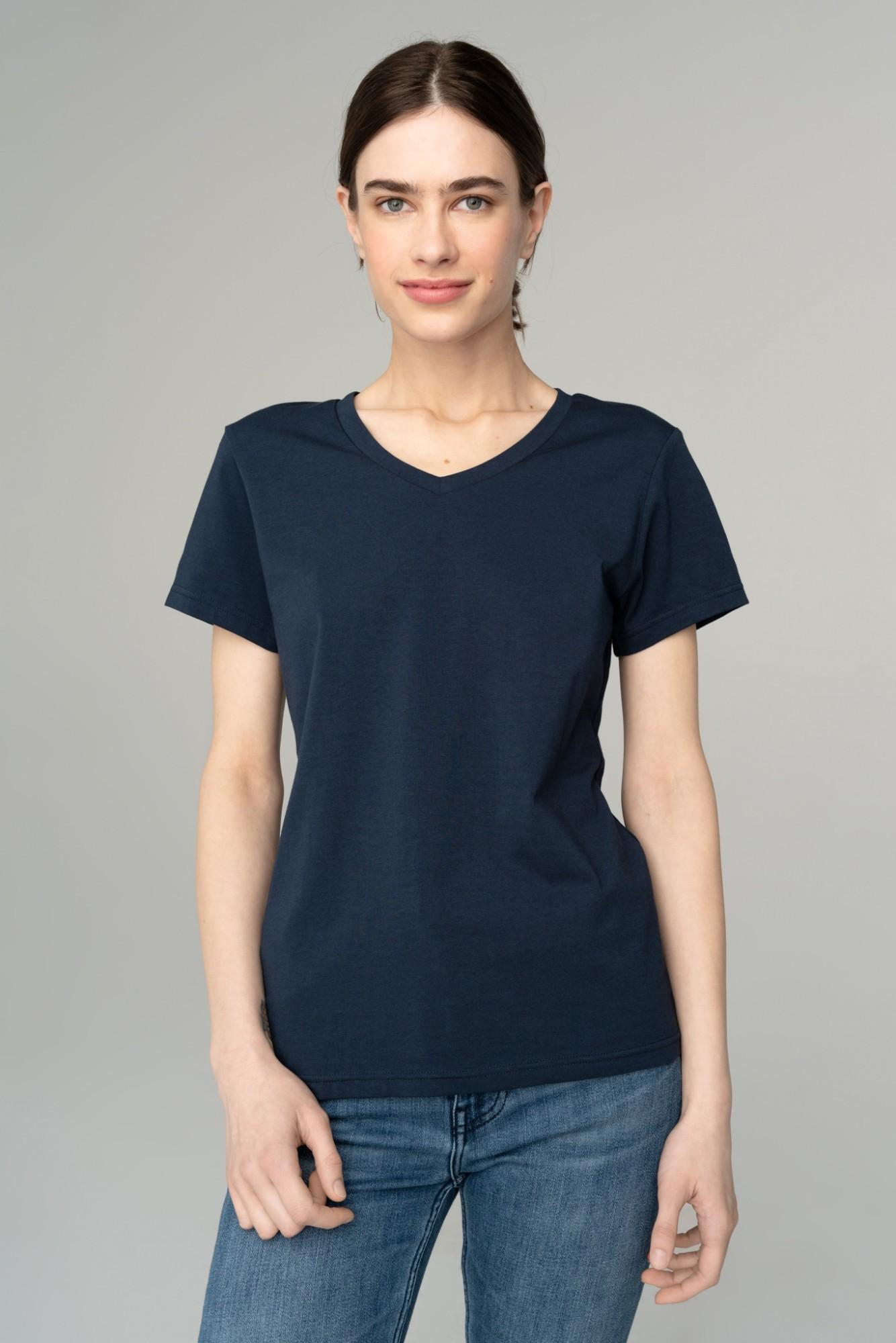 AUDIMAS Švelnūs modalo marškinėliai 2111-075 Navy Blazer M