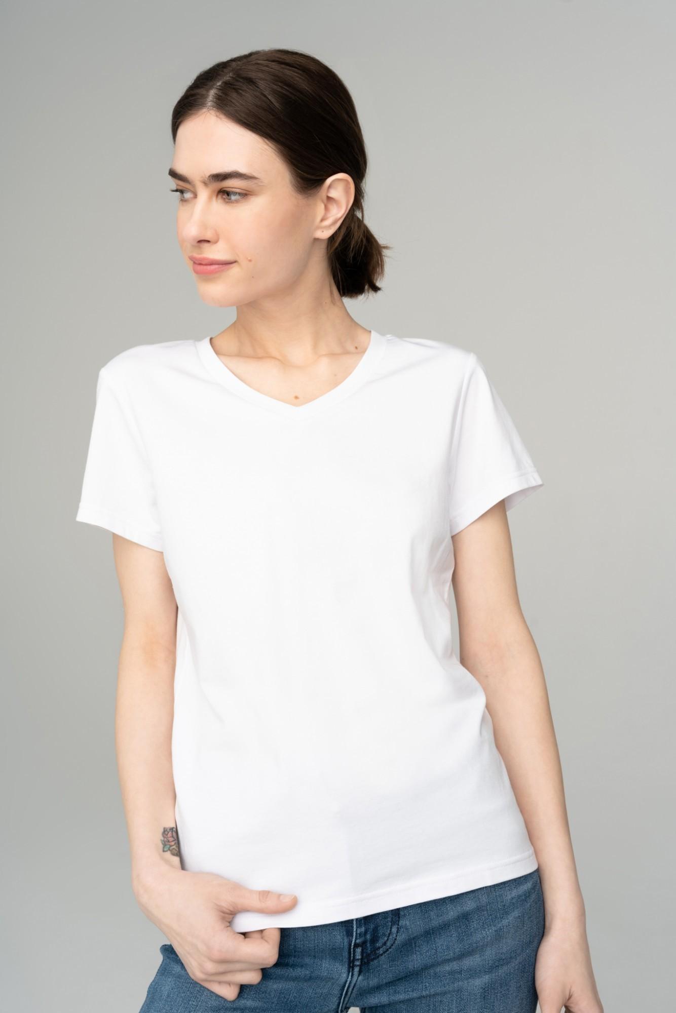 AUDIMAS Švelnūs modalo marškinėliai 2111-075 White L