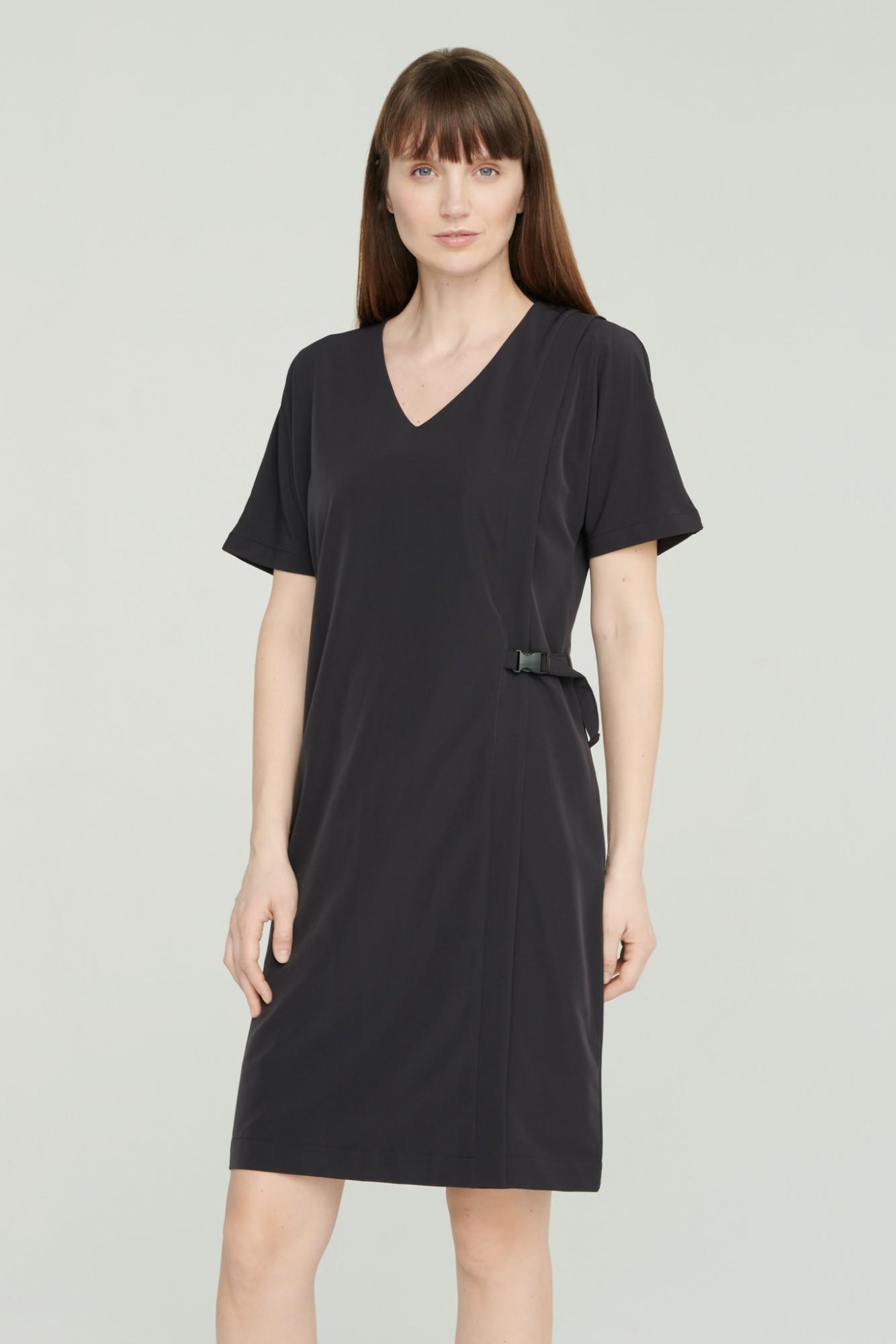 AUDIMAS Lengva tampraus audinio suknelė 2111-240 Black L