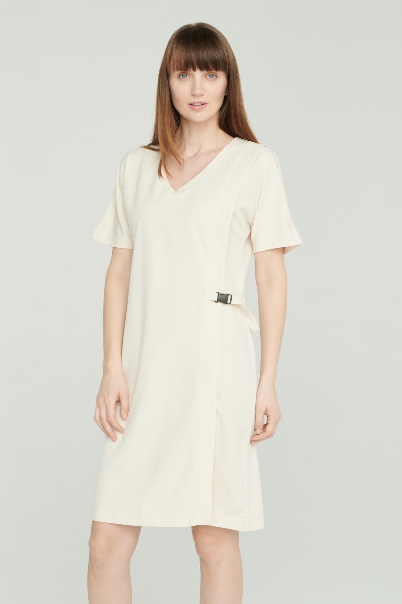 AUDIMAS Lengva tampraus audinio suknelė 2111-240 White Swan XS