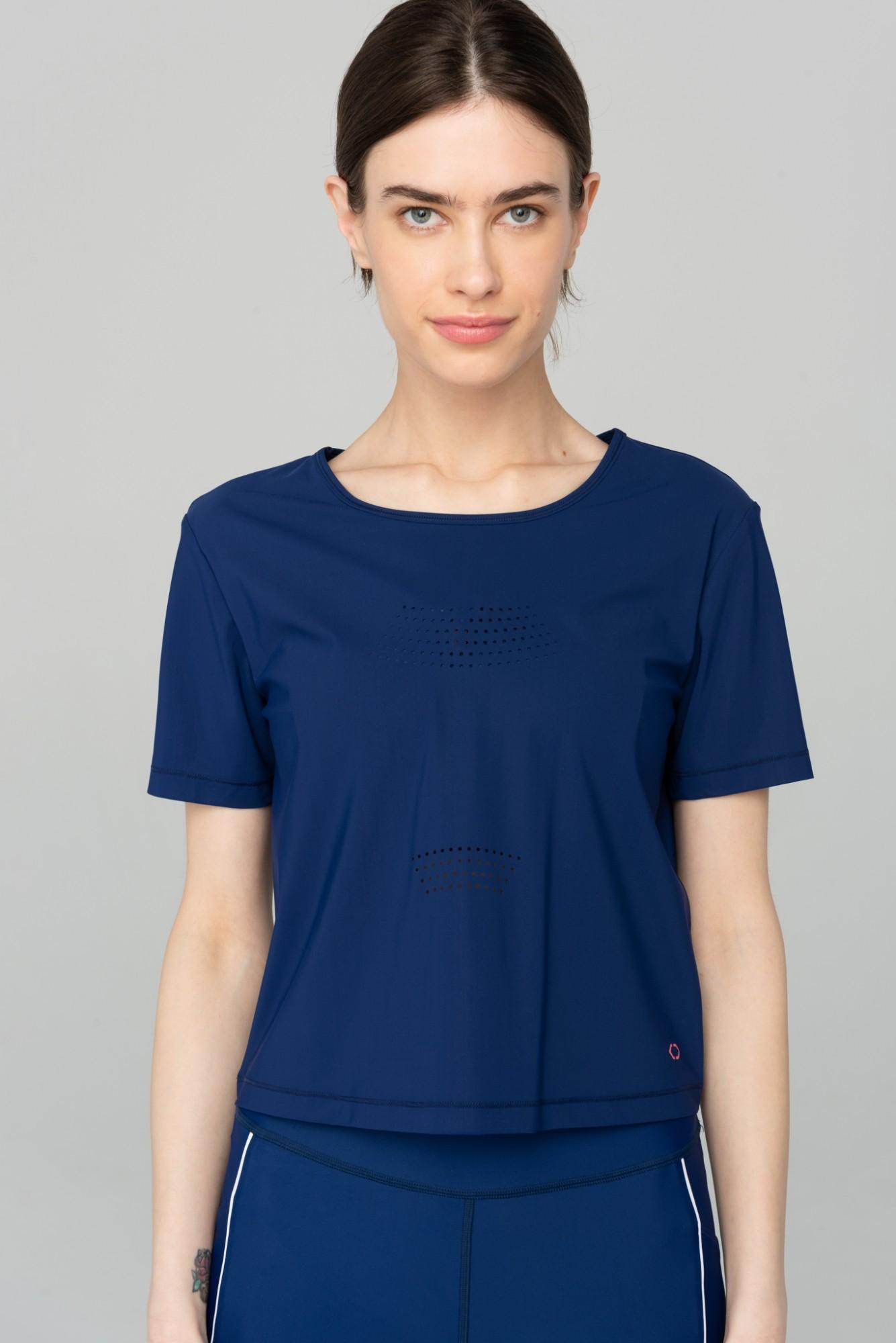 AUDIMAS Trumpi marškinėliai SENSITIVE 2111-312 Blue Depths S