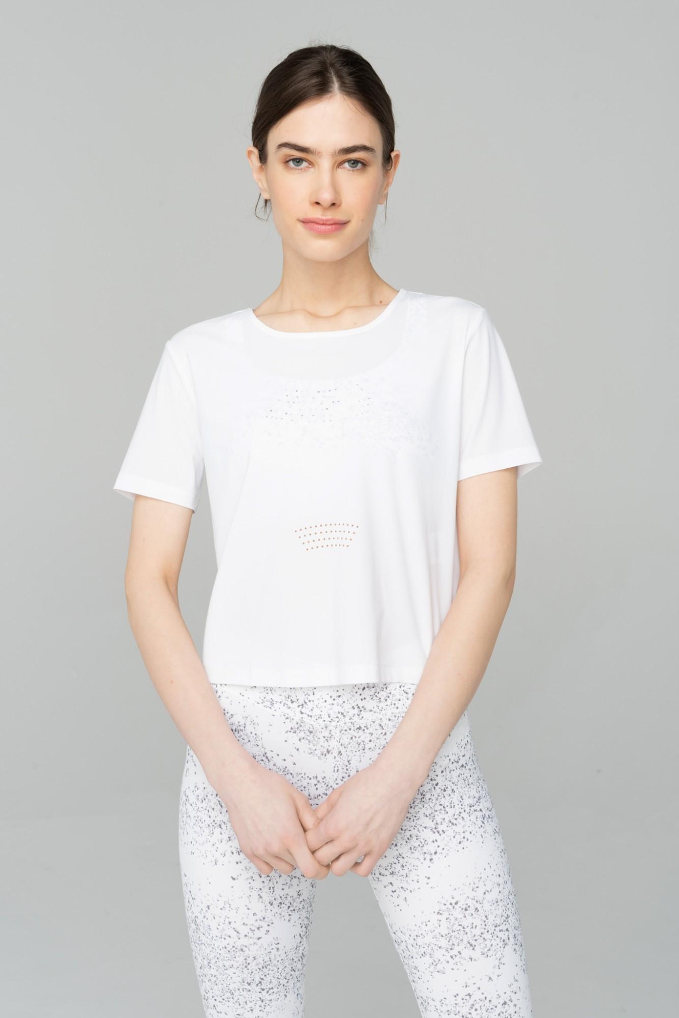 AUDIMAS Trumpi marškinėliai SENSITIVE 2111-312 White S