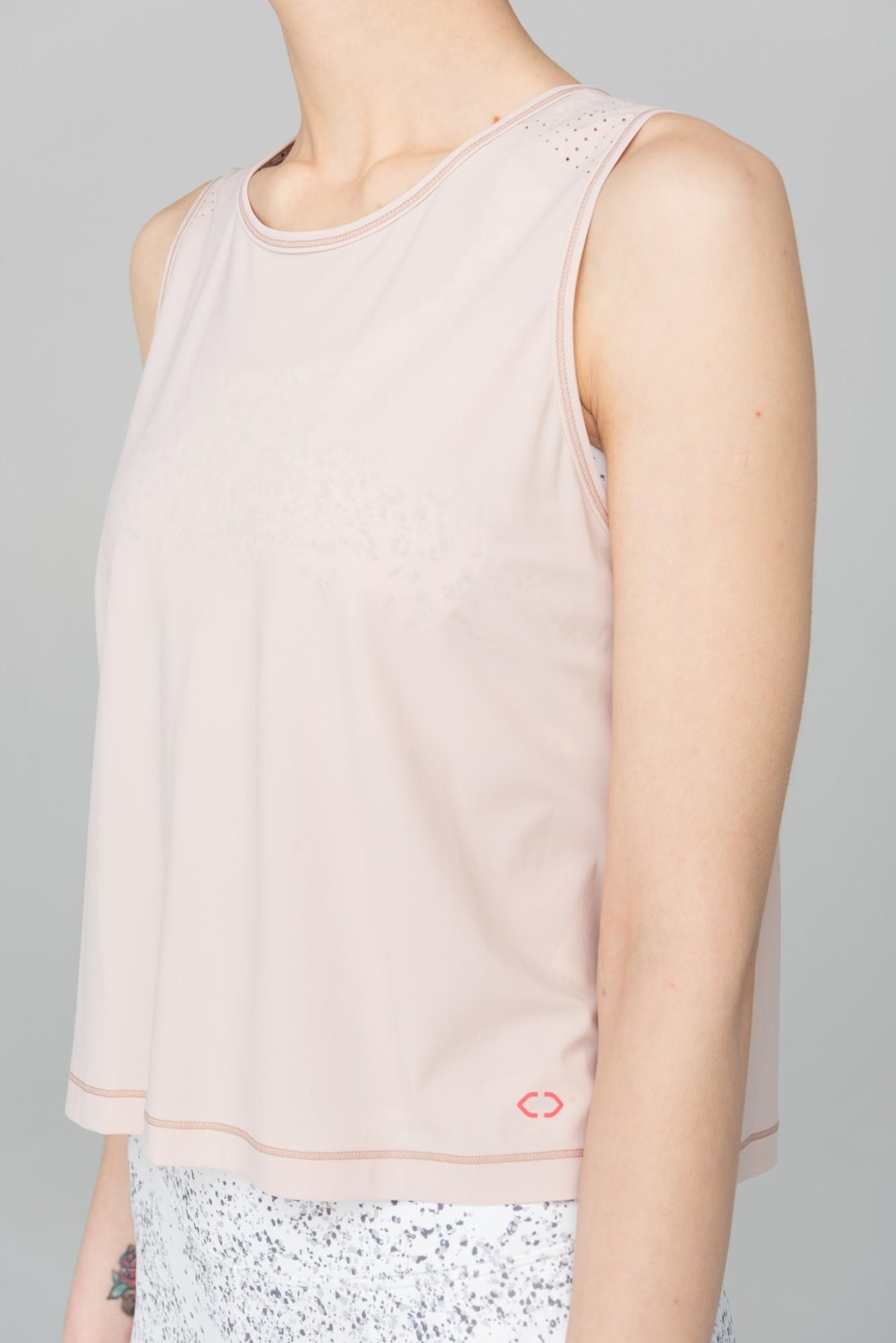AUDIMAS Trumpi marškinėliai be rankovių 2111-314 Peach Whip L