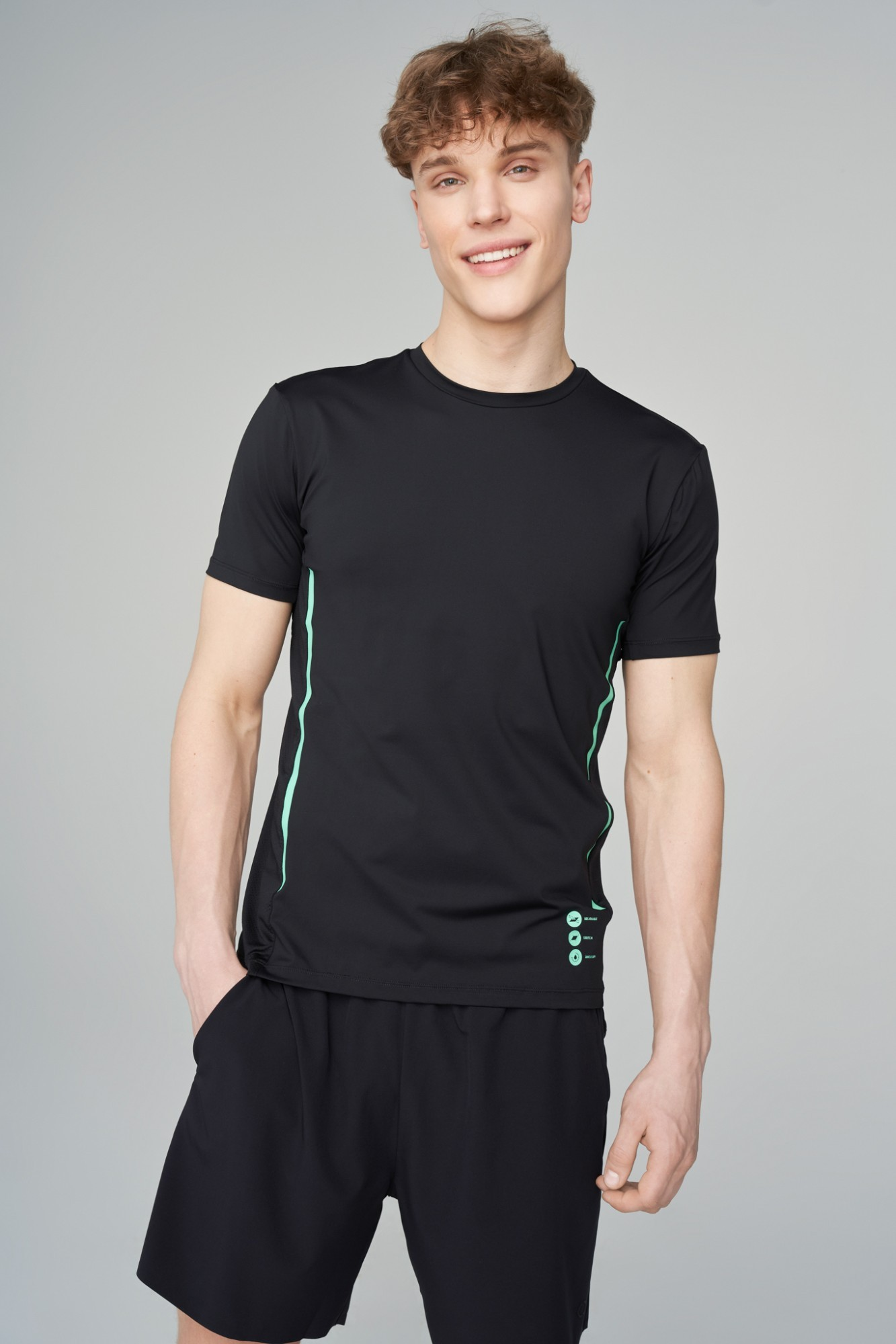 AUDIMAS Funkcionalūs marškinėliai 2111-451 Black M