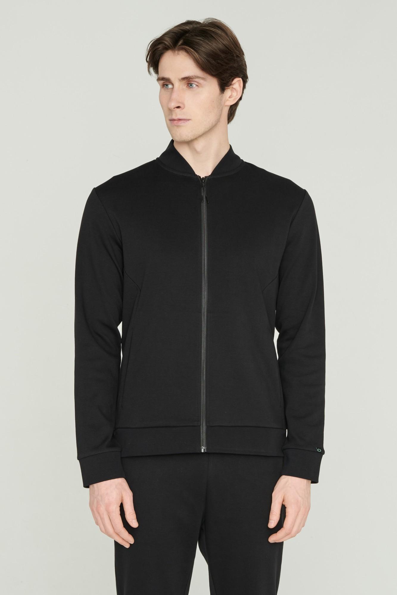 AUDIMAS Atsegamas medvilninis džemperis 2111-461 Black XXL