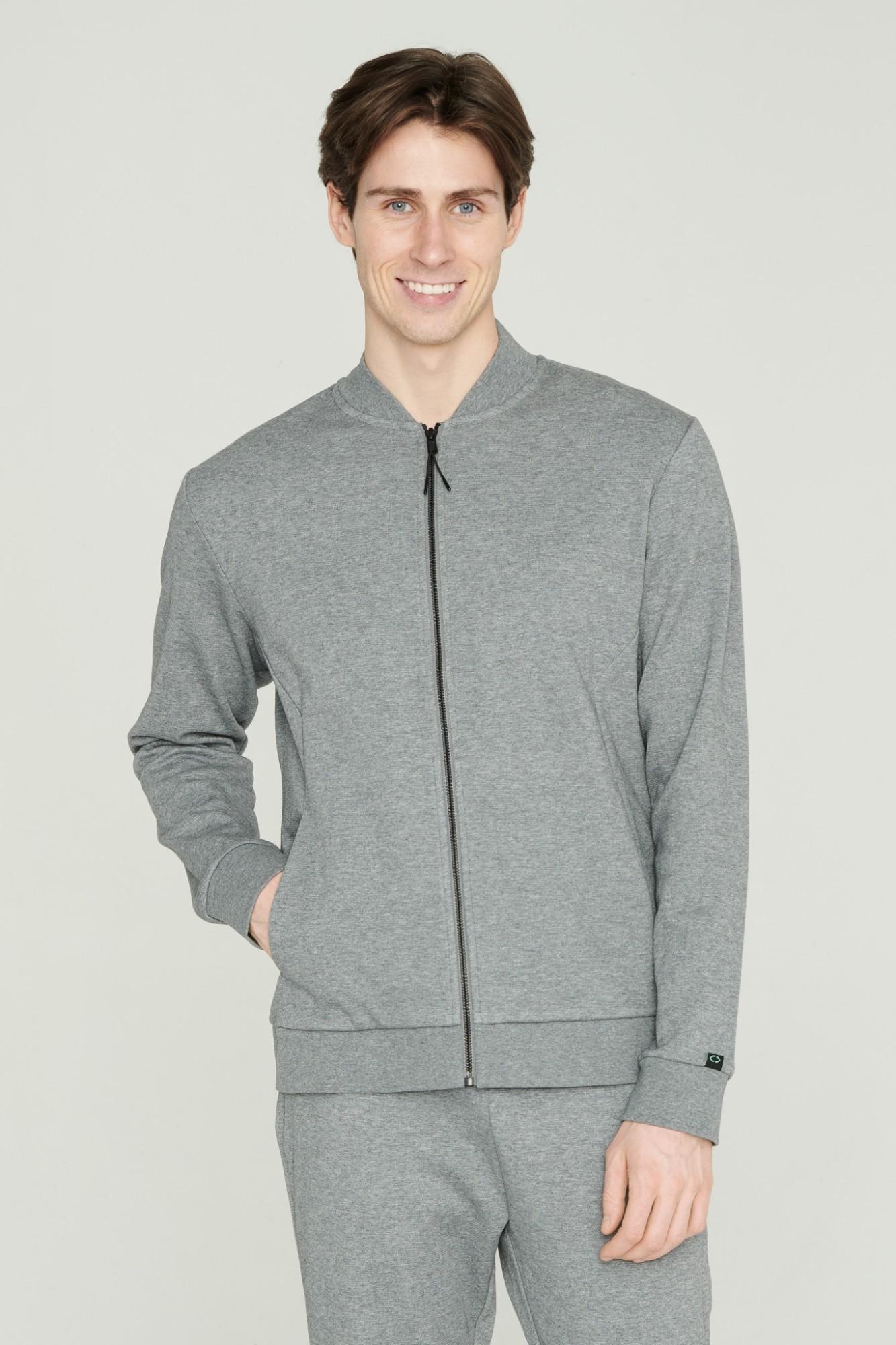 AUDIMAS Atsegamas medvilninis džemperis 2111-461 Pewter Melange M
