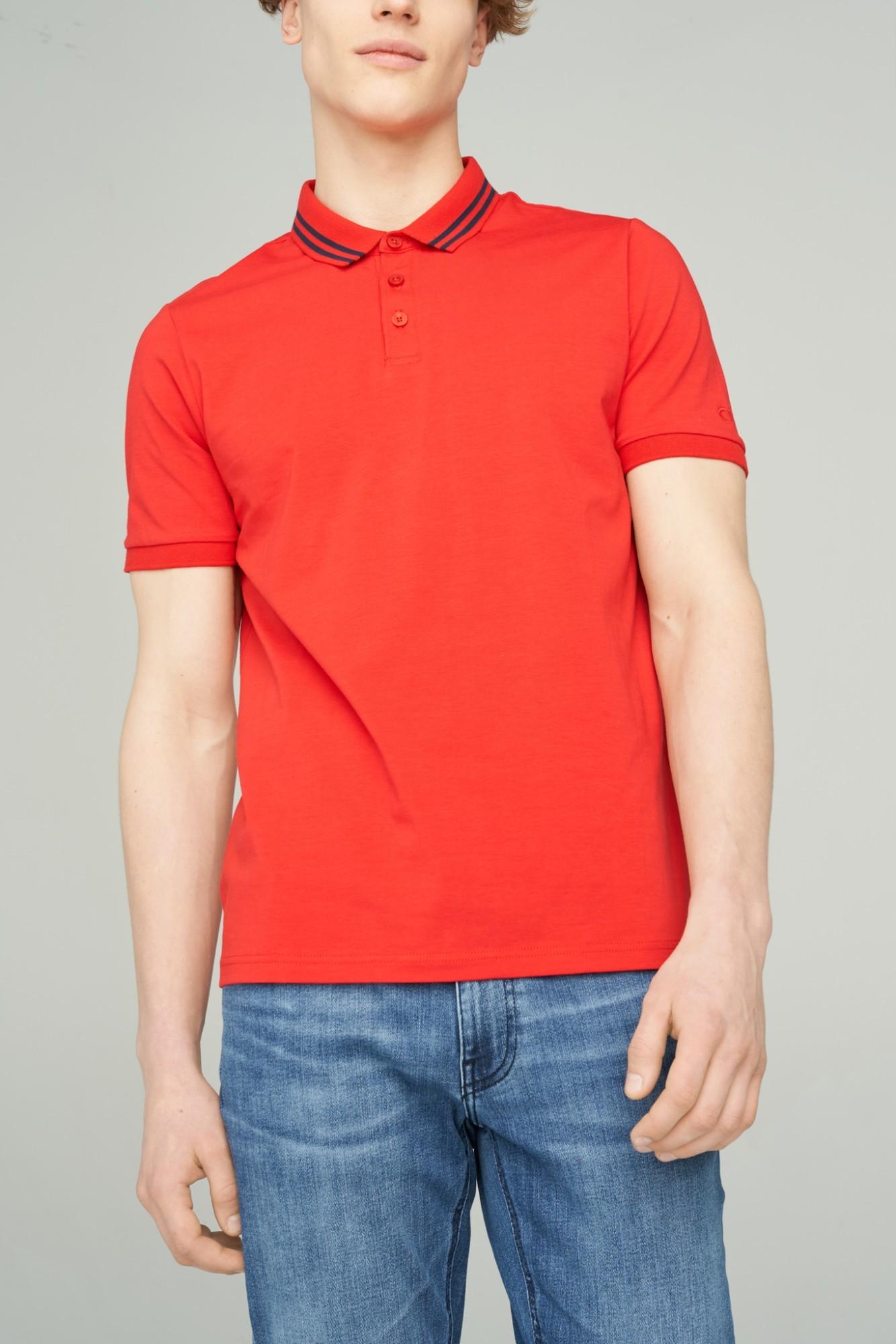 AUDIMAS Tamprūs medvil. polo marškinėliai 2111-479 High Risk Red M