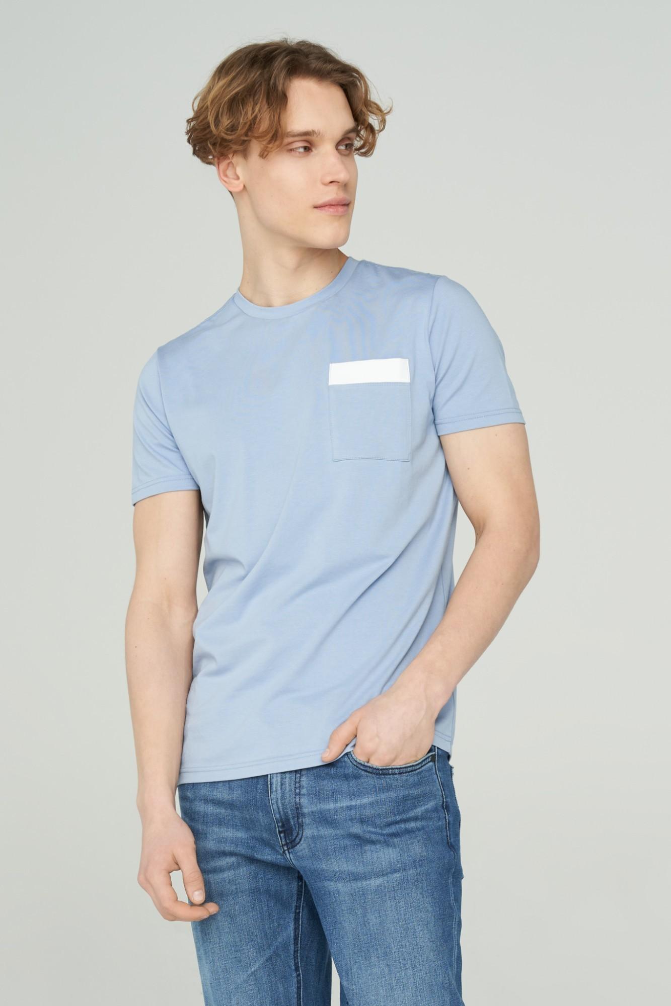 AUDIMAS Švelnūs modalo marškinėliai 2011-512 Forever Blue XL