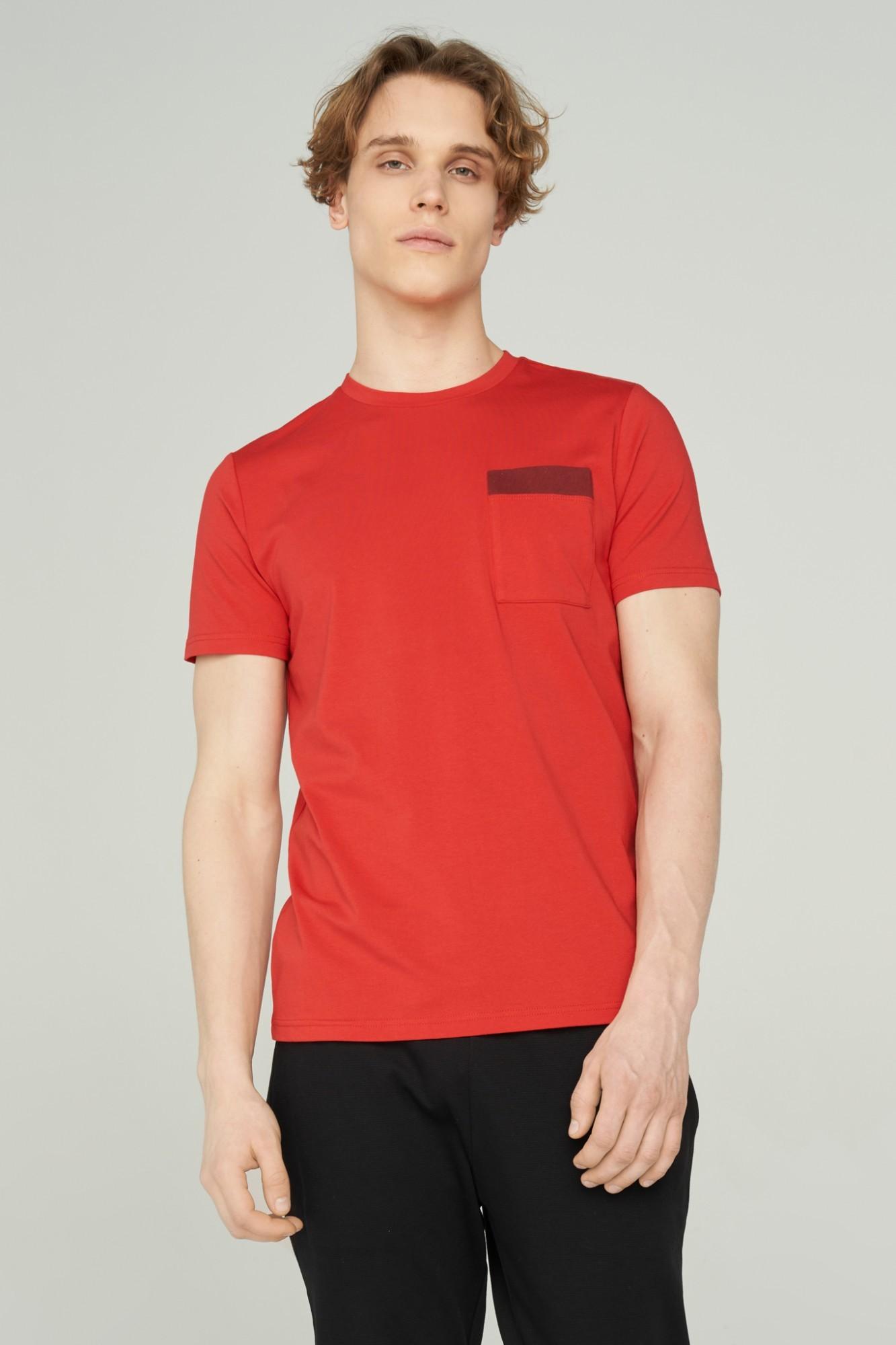 AUDIMAS Švelnūs modalo marškinėliai 2011-512 High Risk Red M