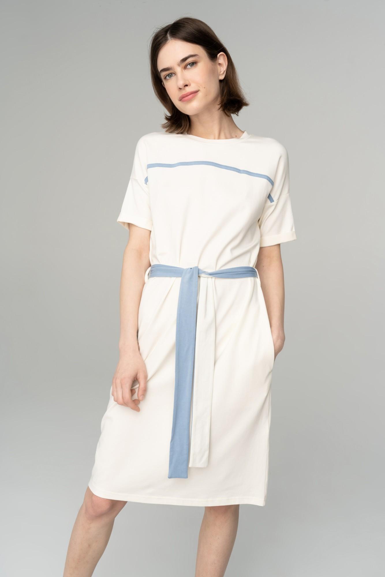 AUDIMAS Švelni modalo suknelė 2111-033 Blanc De Blanc L