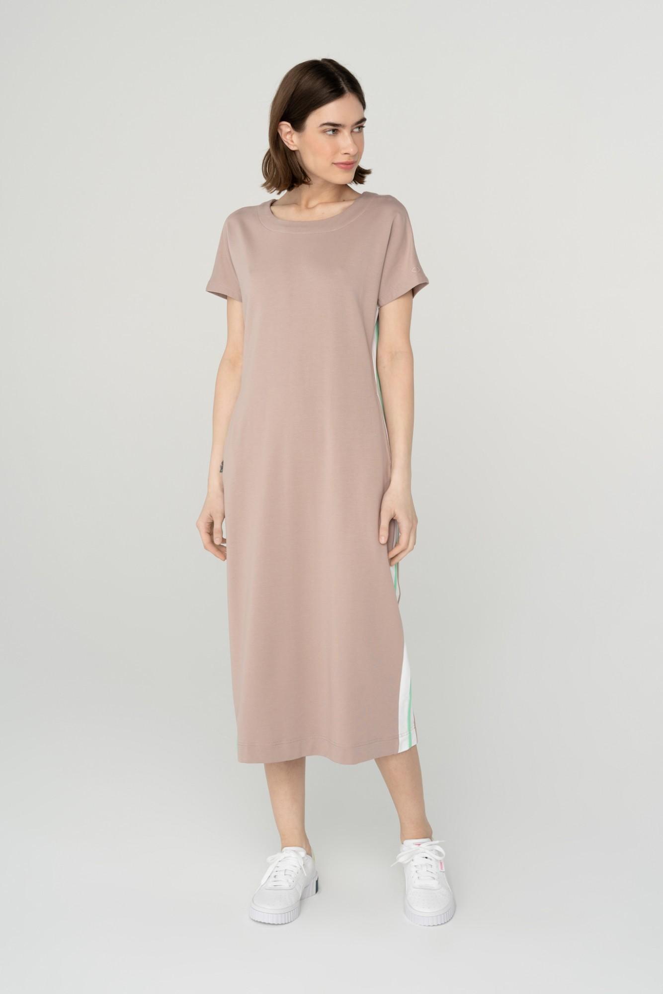 AUDIMAS Ilga švelni modalo suknelė 2111-104 Bark XL