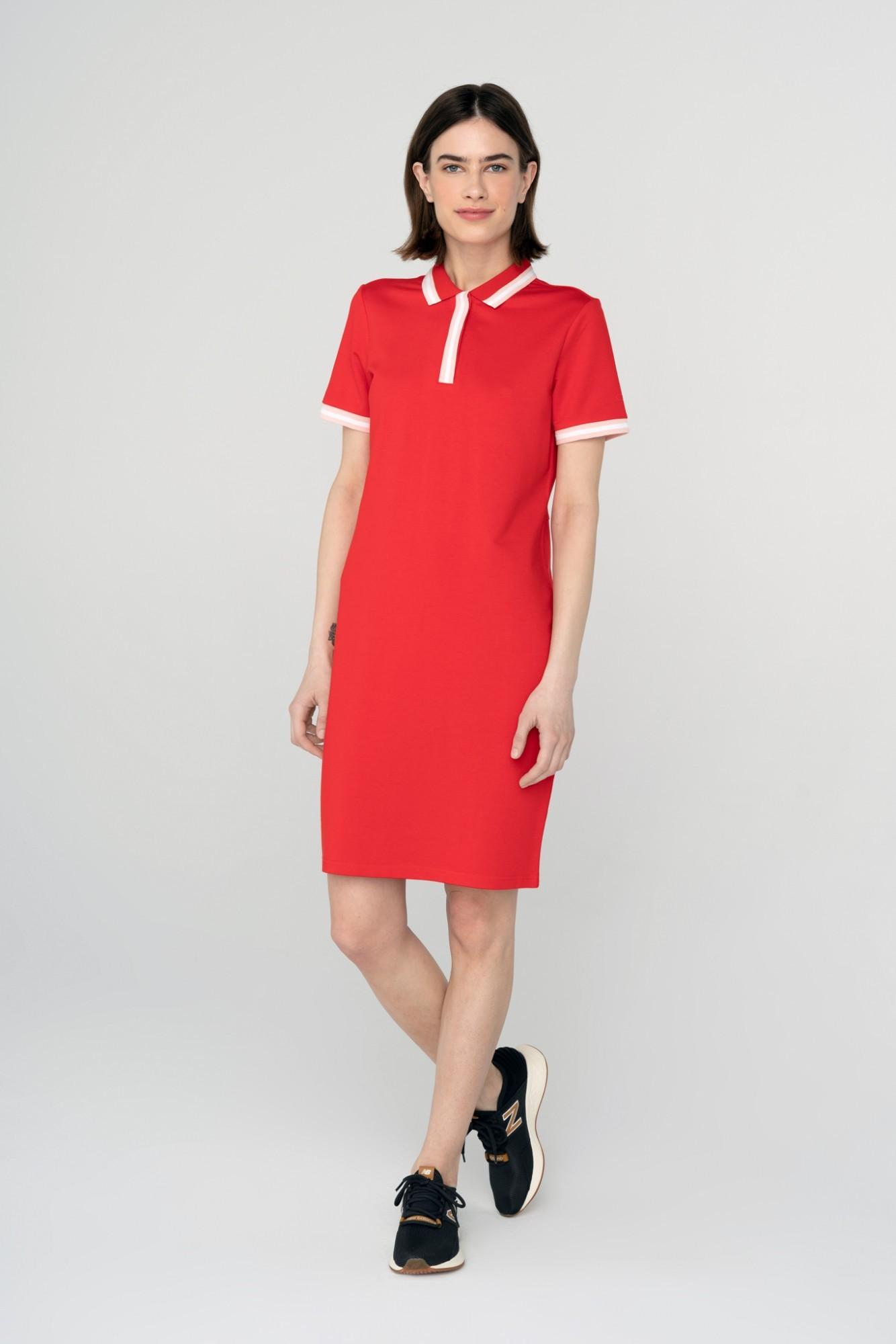 AUDIMAS Švelni modalo polo suknelė 2111-172 High Risk Red L