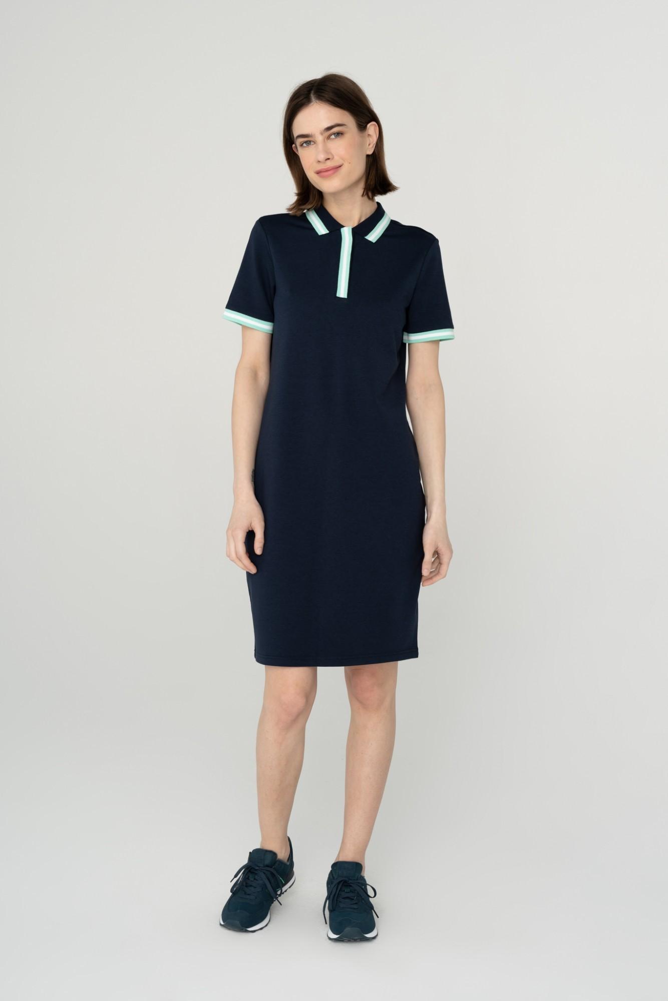 AUDIMAS Švelni modalo polo suknelė 2111-172 Navy Blazer XL