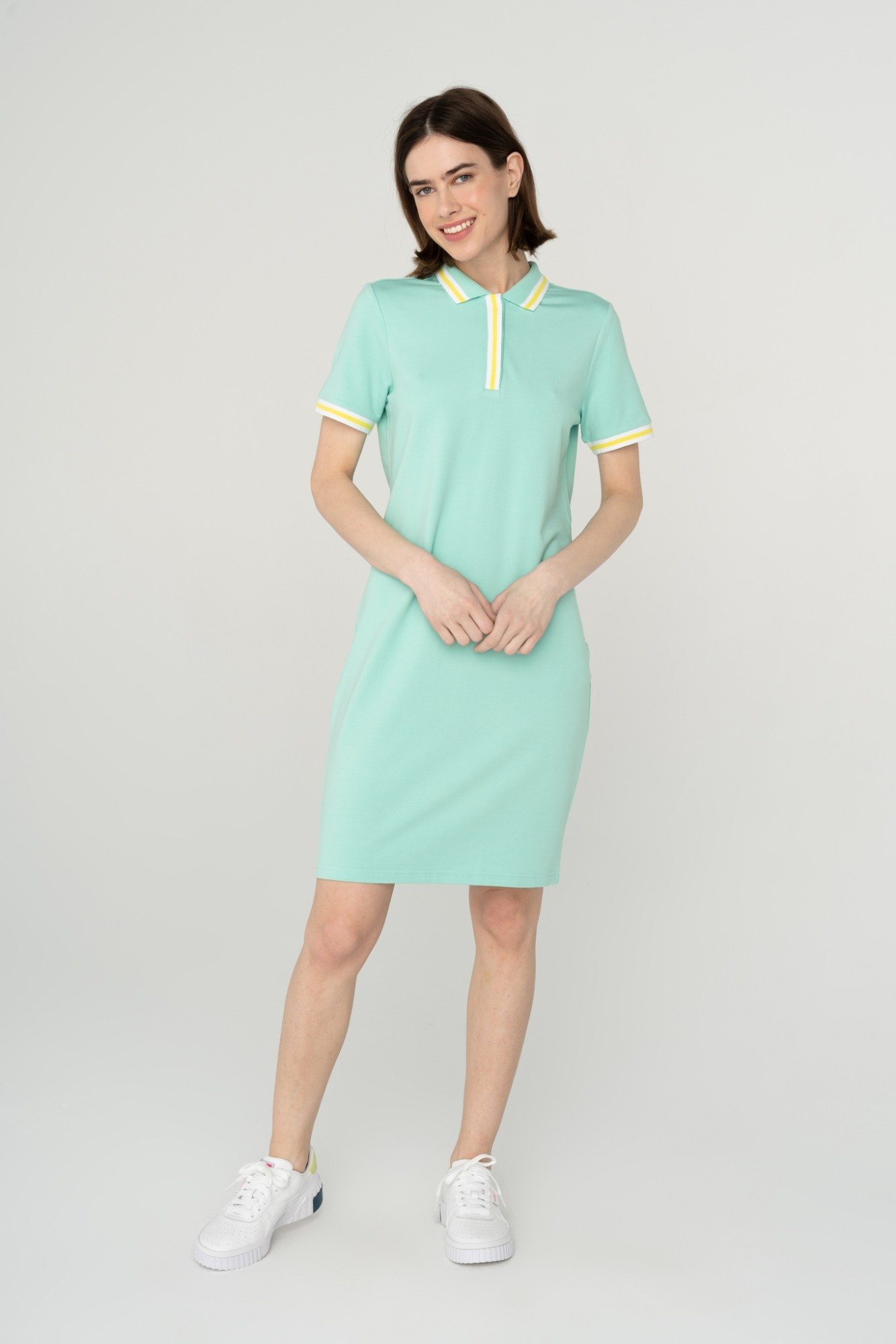 AUDIMAS Švelni modalo polo suknelė 2111-172 Ocean Wave S
