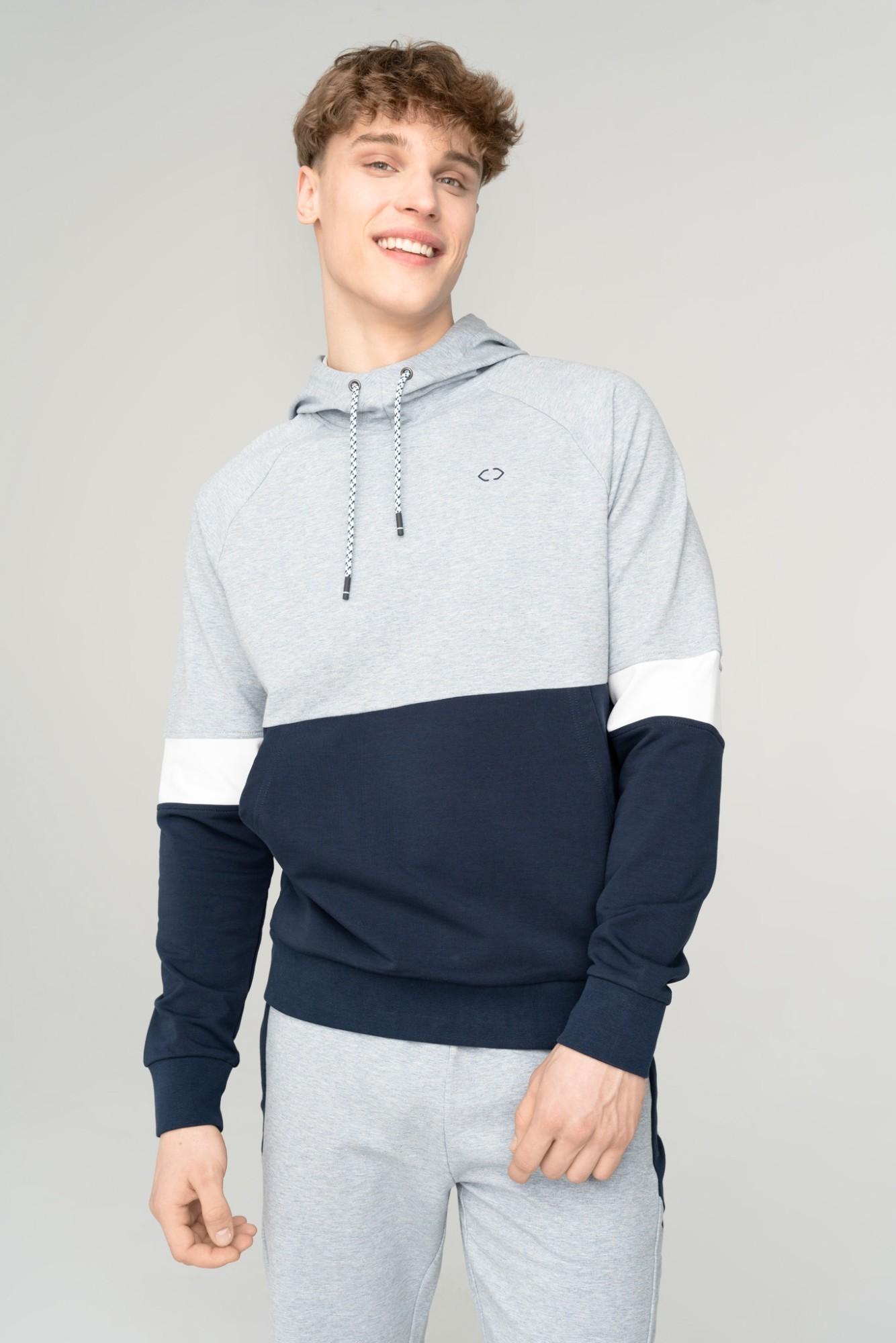 AUDIMAS Tamprus medvilninis džemperis 2111-508 Navy Blazer XXL