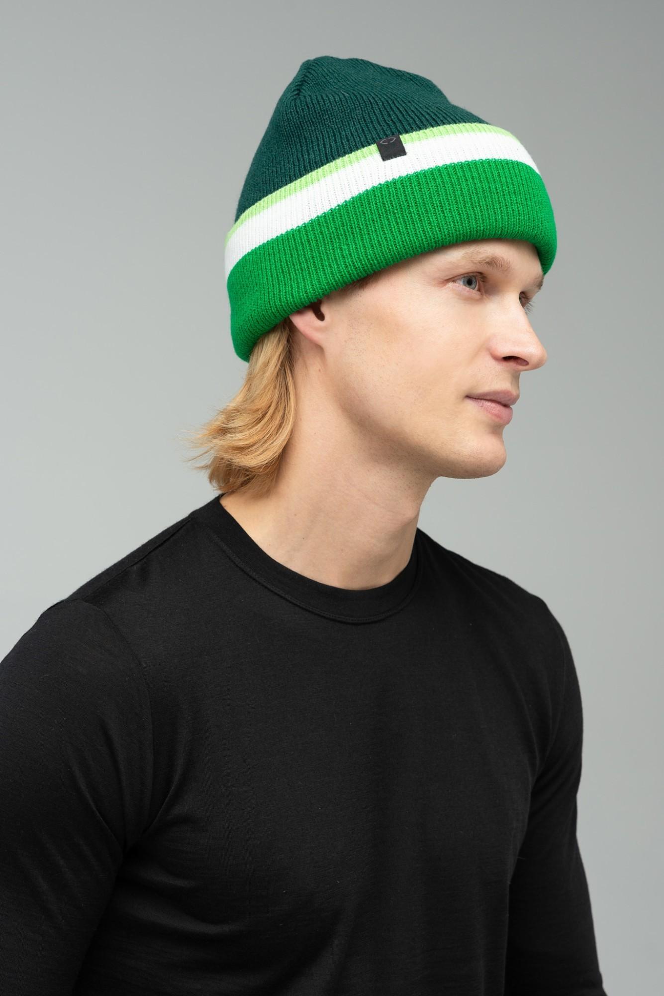 AUDIMAS Megzta kepurė su vilna NOS 1-06-341 Green One size