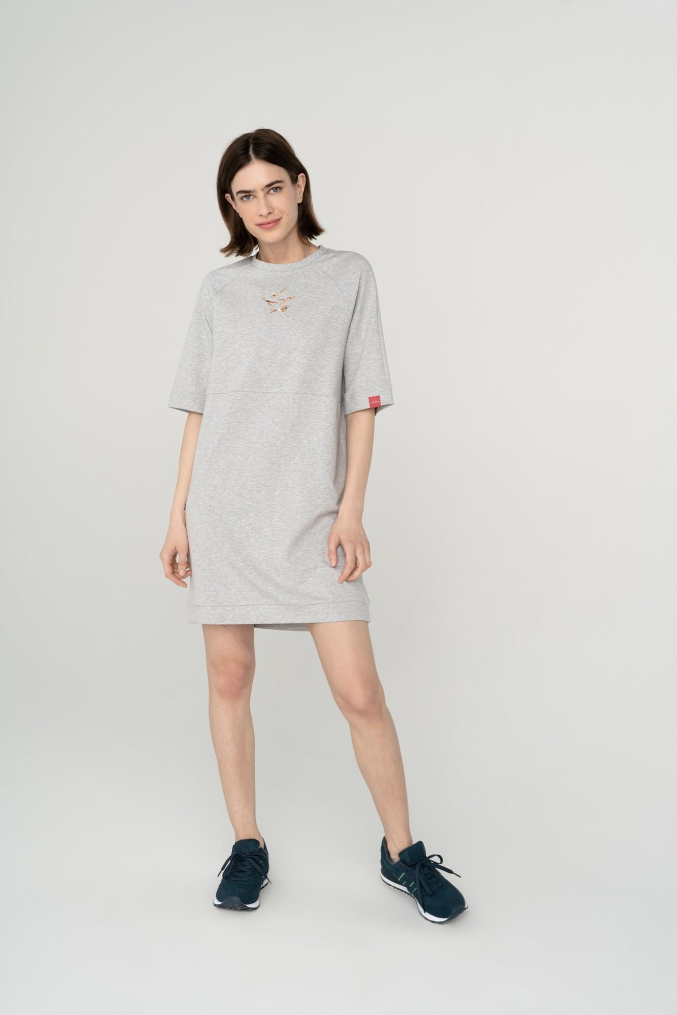 AUDIMAS Švelni modalo suknelė 2111-007 High Rise Melange L