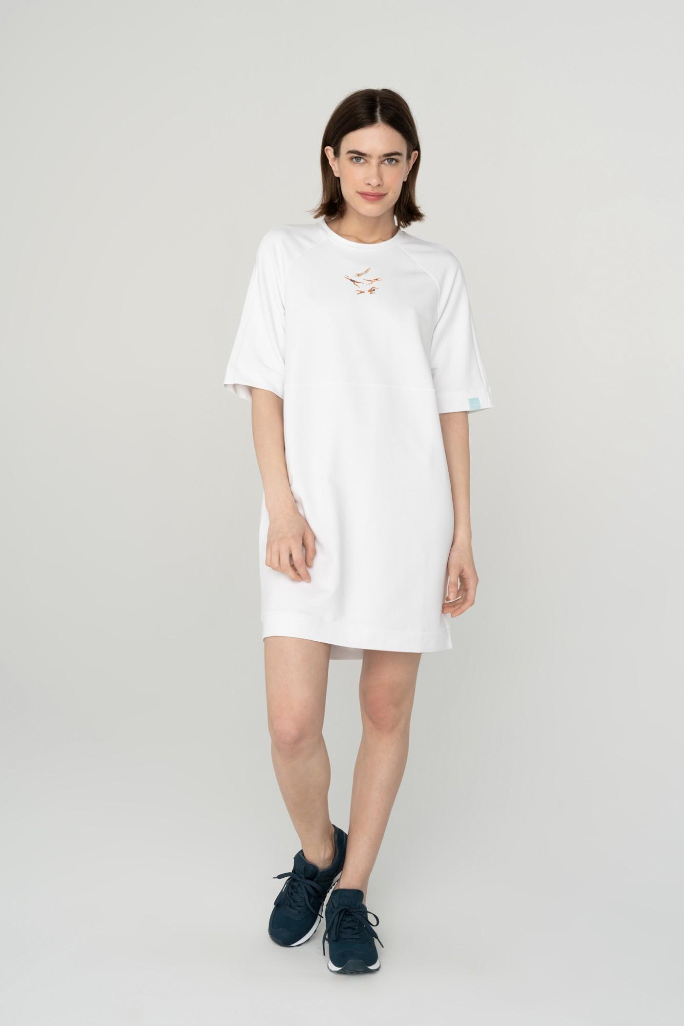 AUDIMAS Švelni modalo suknelė 2111-007 White L