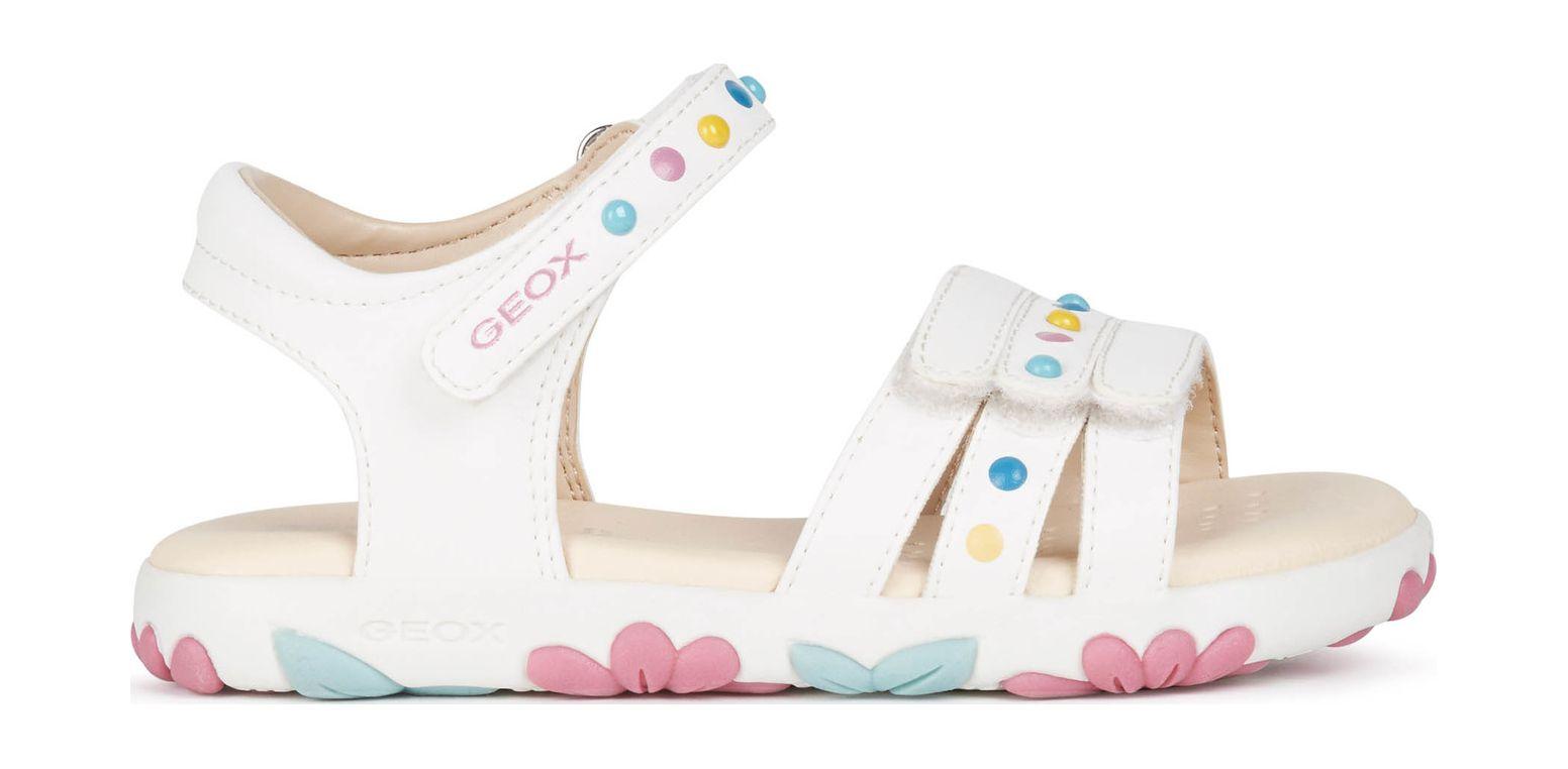 GEOX Sandal Haiti Girl J158ZC000BC White C1000 32