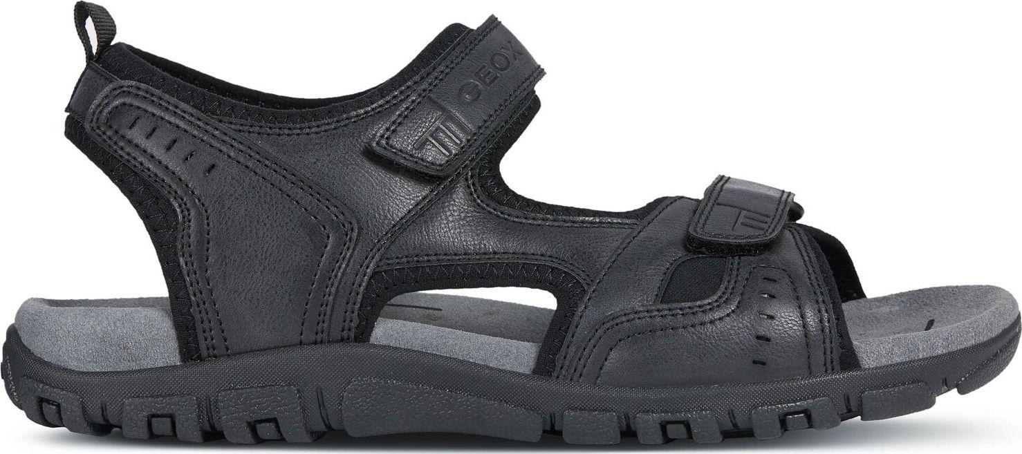 GEOX Uomo Sandal Strada U4224A000ME Black C9999B 42