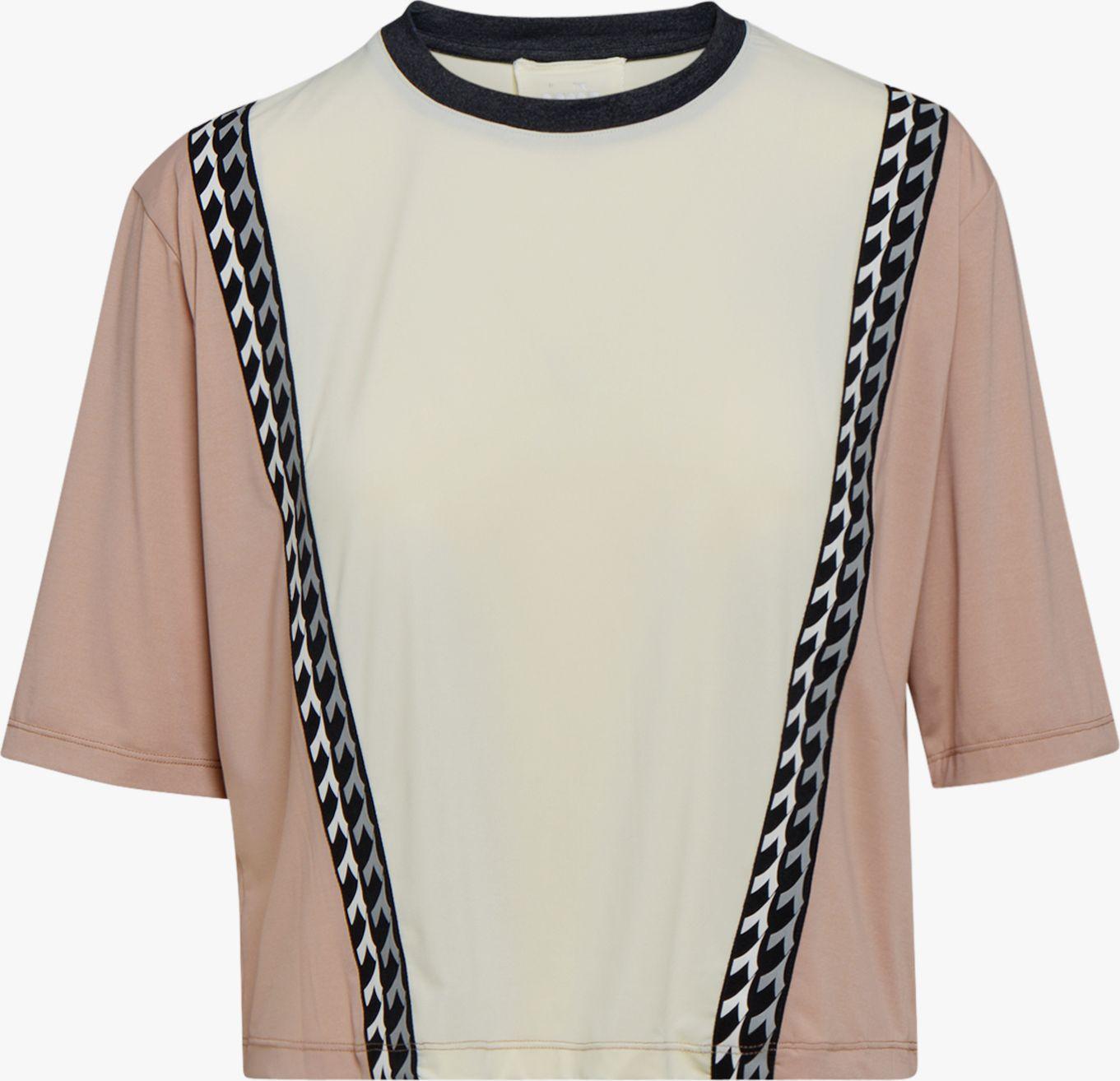 DIADORA L. SS T-Shirt Be One Tech Mahogany Rose/Whisper White L