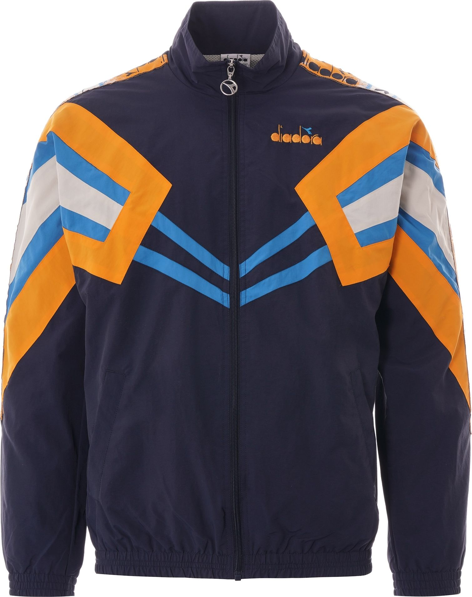 DIADORA Track Jacket MVB Blue Nights/Orange Zinnia M