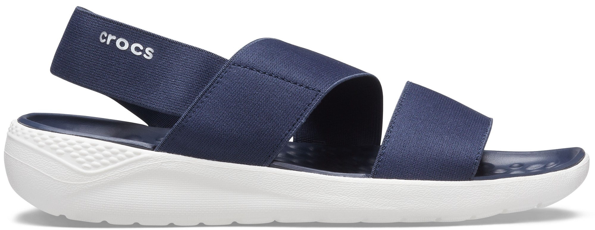 Crocs™ Literide Stretch Sandal Womens Navy/White 36,5