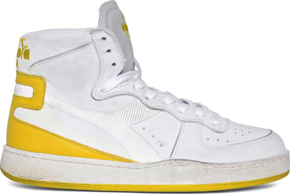 DIADORA Mi Basket Used White/Empire Yellow 44