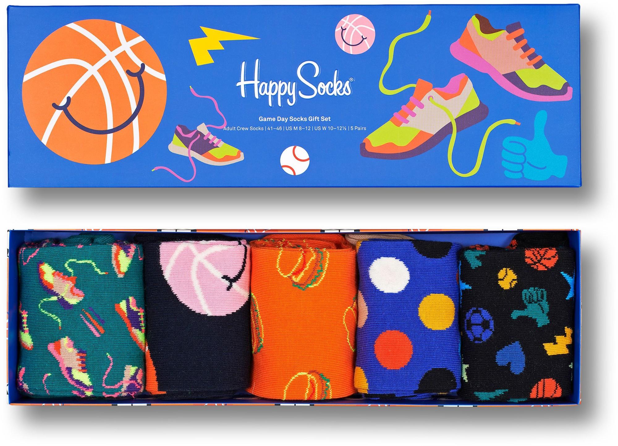 Happy Socks 5-Pack Game Days Gift Set Multi 6300 41-46