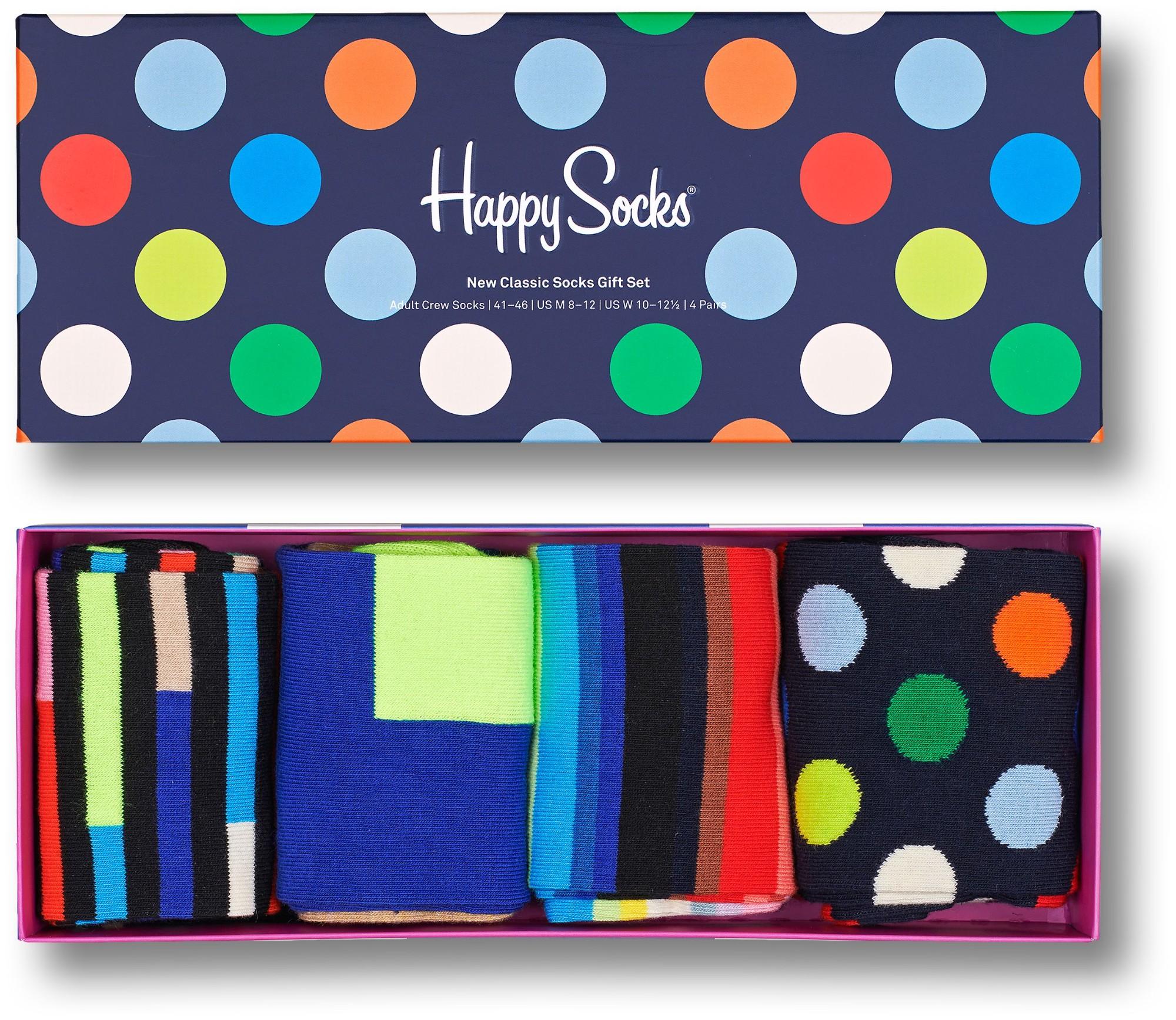 Happy Socks 4-Pack New Classics Gift Set Multi 9300 41-46