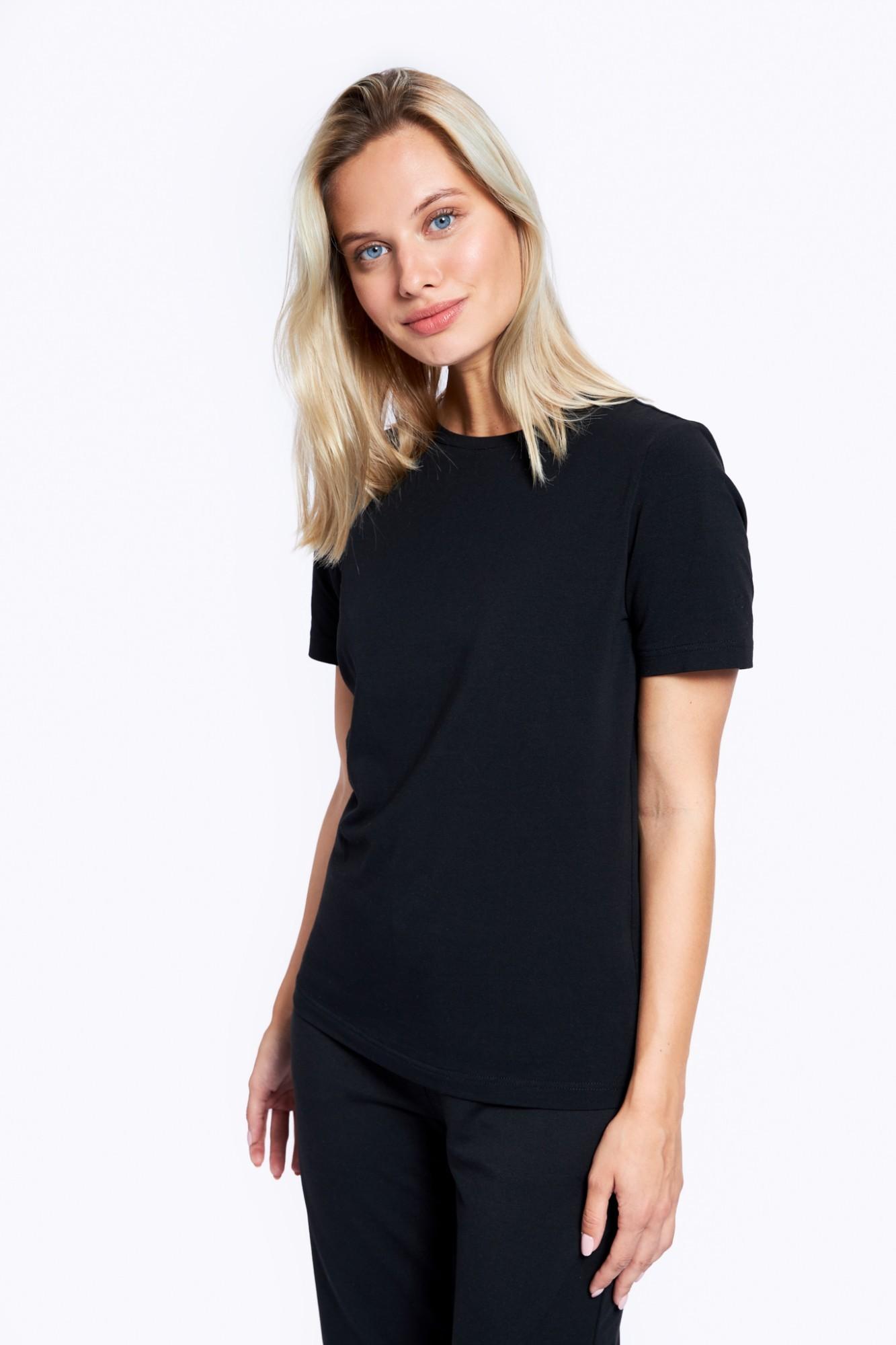 AUDIMAS Medvilniniai marškinėliai 2121-073 Black S