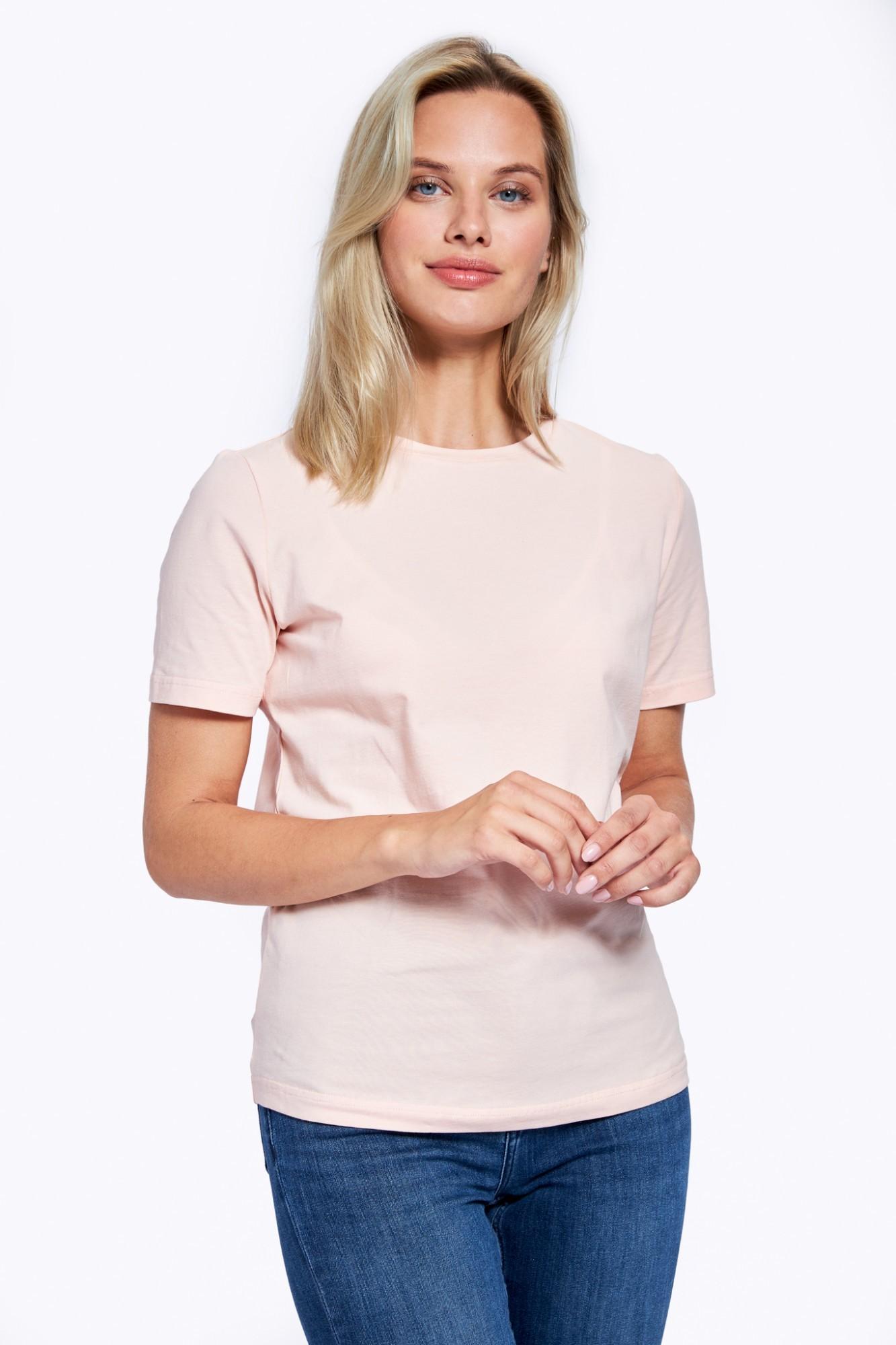 AUDIMAS Medvilniniai marškinėliai 2121-073 Peachy Keen S