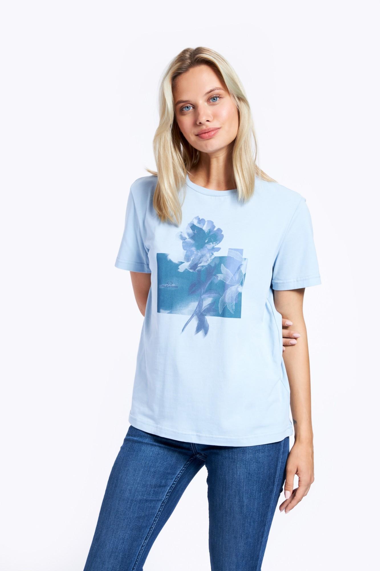 AUDIMAS Marginti medviln. marškinėliai 2121-077 Blue Fog Printed S