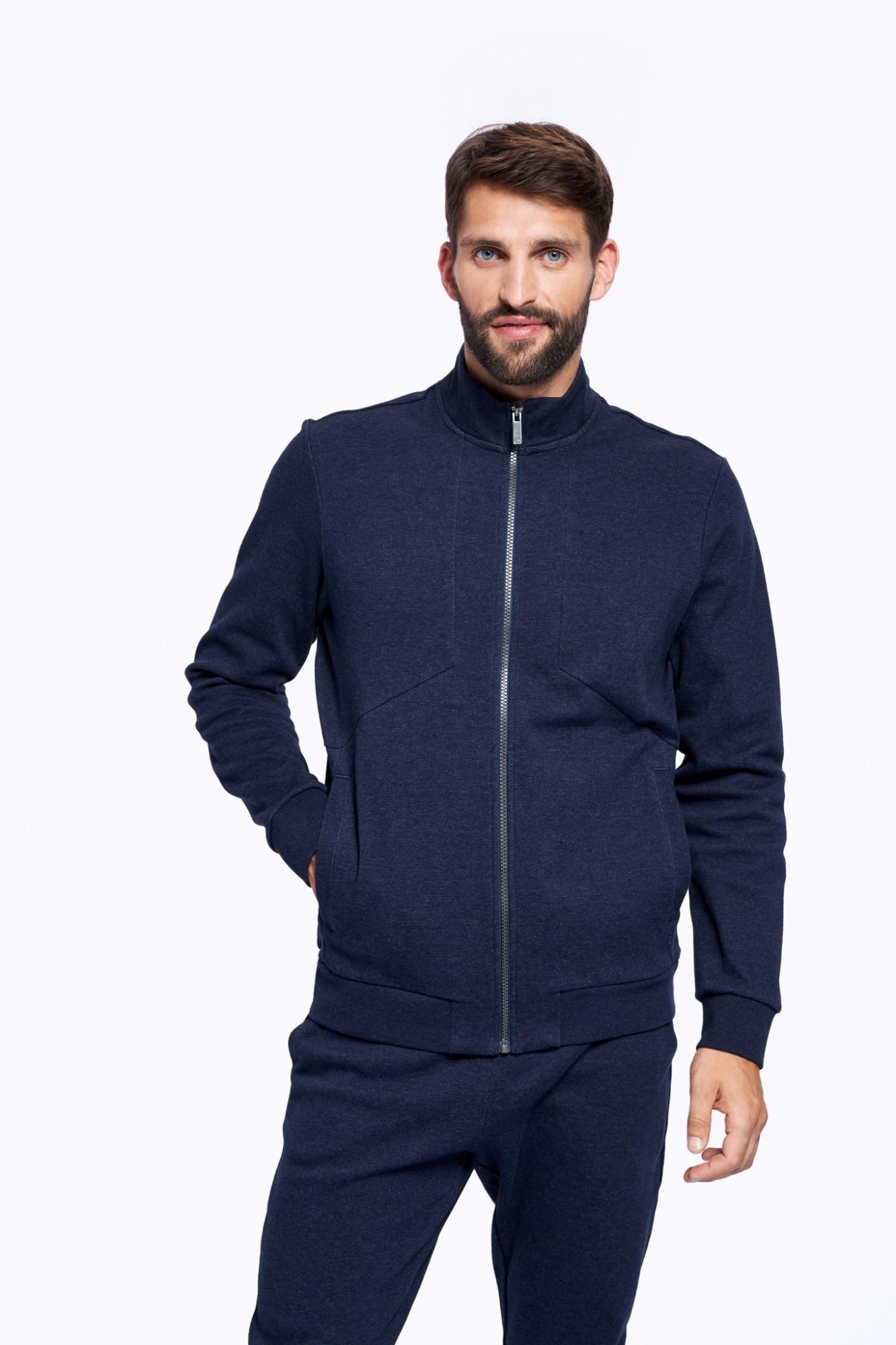 AUDIMAS Atsegamas medvilninis džemperis 2121-461 Navy Blazer Melange S