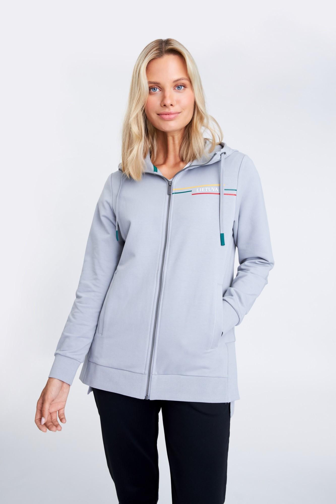 AUDIMAS Tamprus medvilninis džemperis 21LT-007 Ultimate Gray L