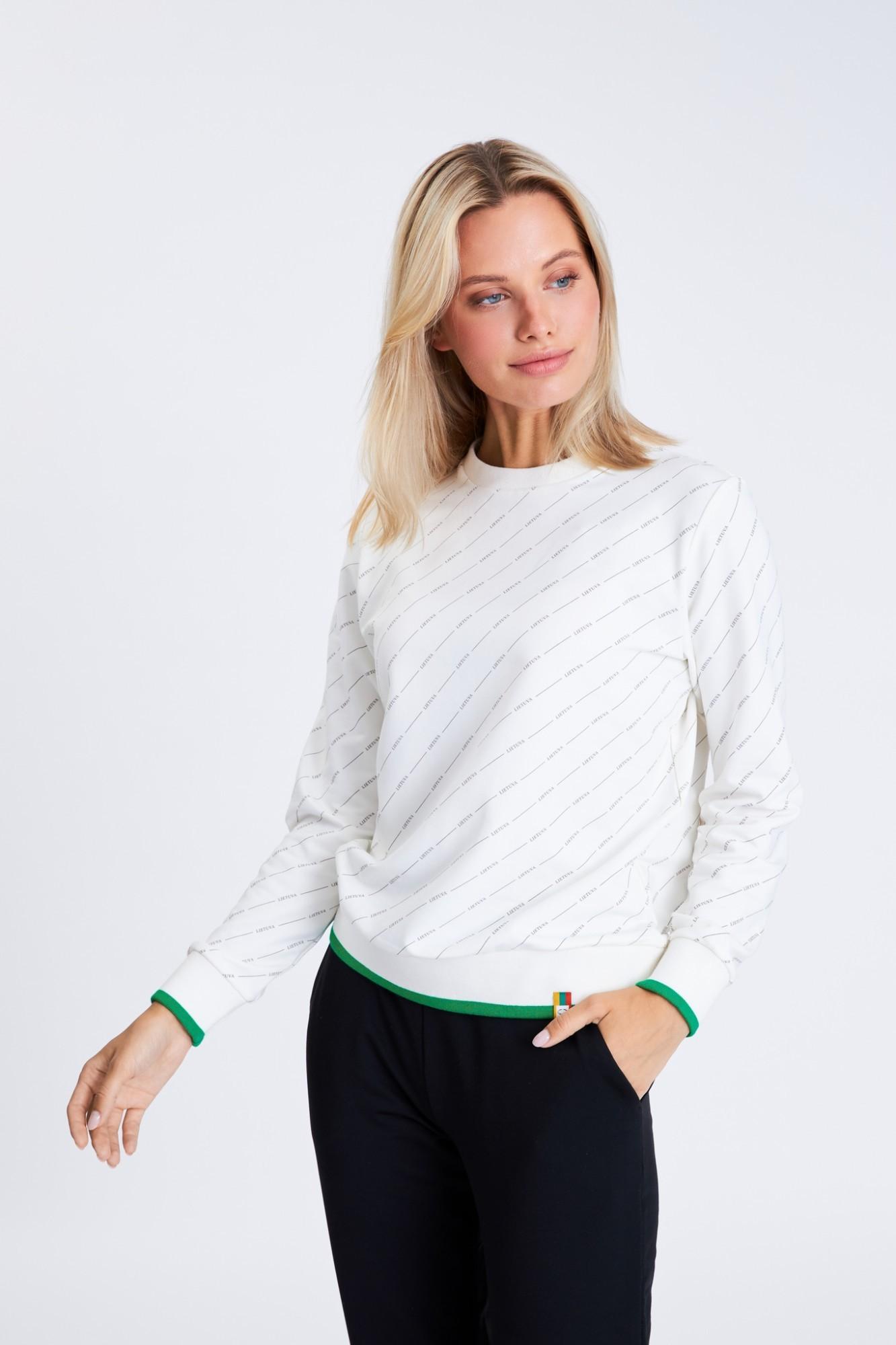 AUDIMAS Tamprus margintas medviln. džemp. 21LT-009 Blanc De Blanc XS